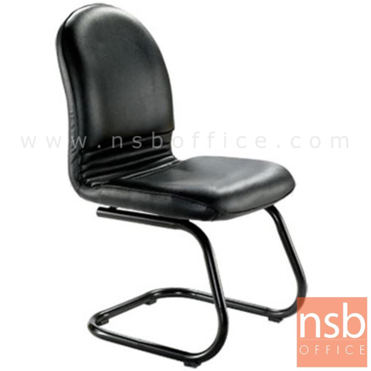 B04A155:เก้าอี้รับแขกขาตัวซี รุ่น Red Ribbon  ขาเหล็กพ่นดำ