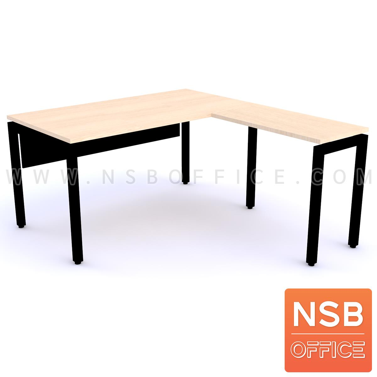 โต๊ะทำงานตัวแอล  ขนาด 150W1 ,180W1*170W2 cm.  ขาเหล็กตรง