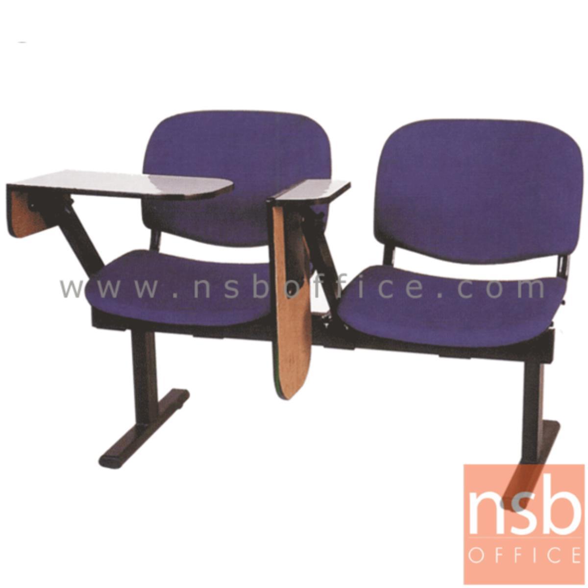เก้าอี้เลคเชอร์แถวหุ้มเบาะใหญ่ รุ่น D660 2 ,3 และ 4 ที่นั่ง ขาเหล็กพ่นดำ