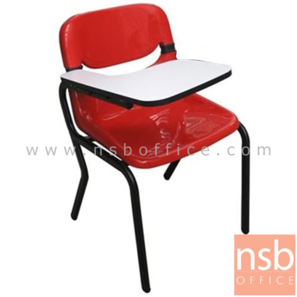 เก้าอี้เลคเชอร์เฟรมโพลี่ รุ่น B-790 ขาเหล็กท่อแป๊บไข่พ่นสีดำ