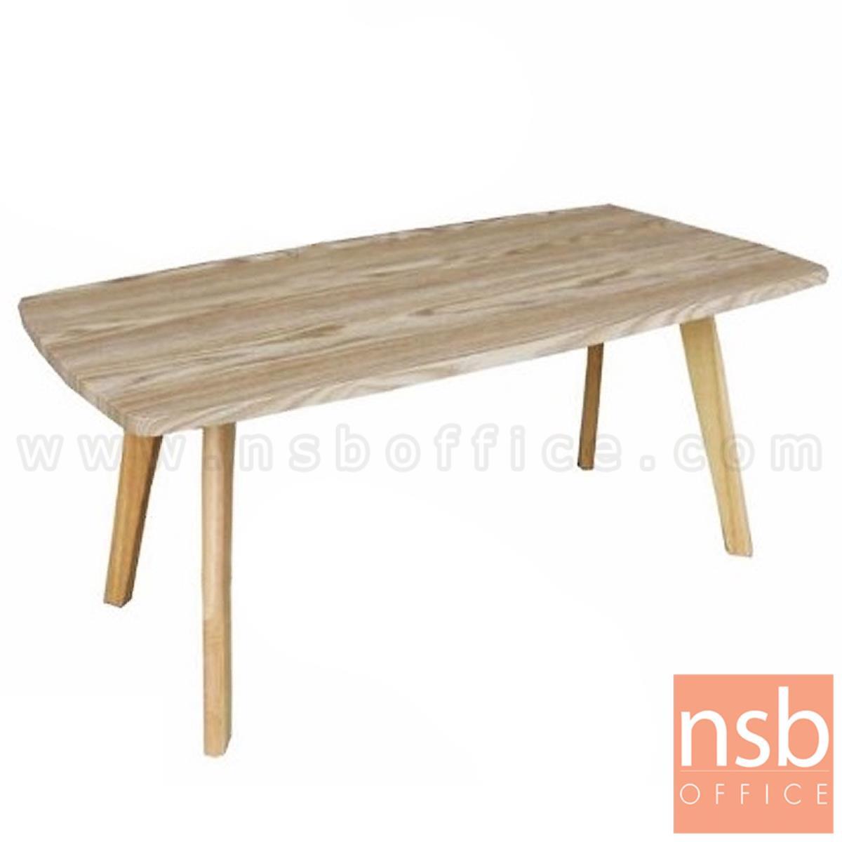 B13A287:โต๊ะกลางไม้ รุ่น Angvish (แองวิช) ขนาด 100W cm. ขาไม้