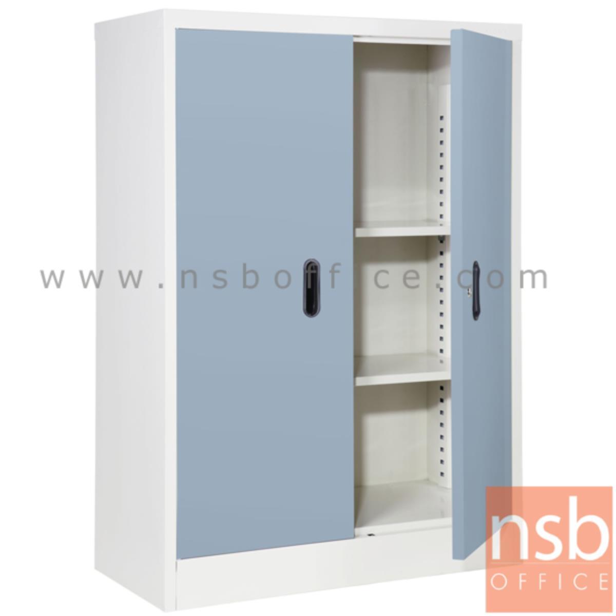 E21A003:ตู้เหล็ก 2 บานเปิด (2 แผ่นชั้น) 88W*40D*122H cm  BS-2122 (เก็บของ หรือ วางรองเท้า)