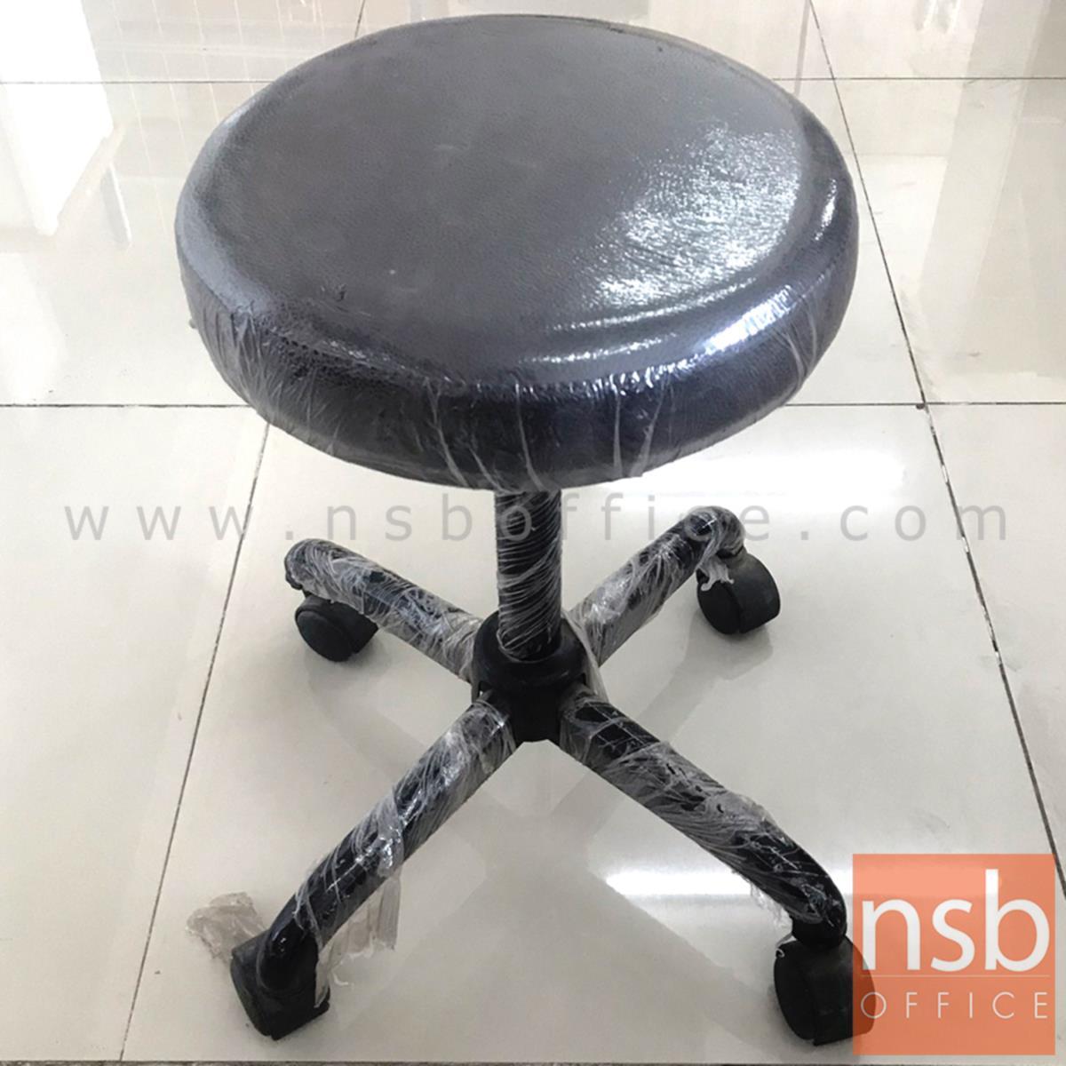 L02A340:เก้าอี้บาร์เตี้ย  ขนาด 30Di*50H cm. ขาดำ (STOCK-1 ตัว)