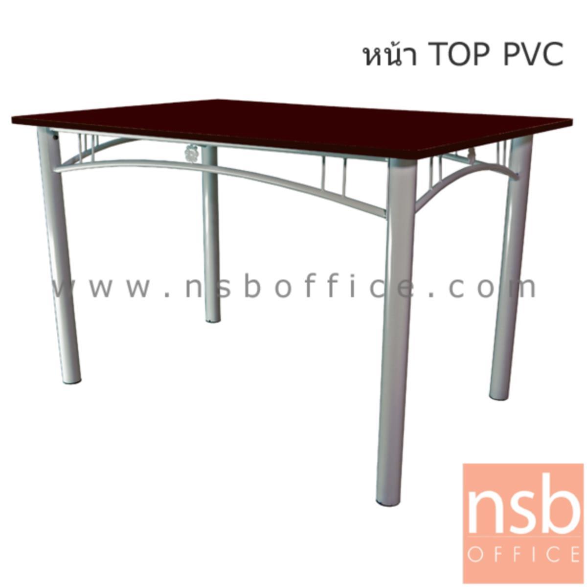 A14A187:โต๊ะหน้าเมลามีน รุ่น Beda (เบด้า) ขนาด 120W cm.  โครงขาเหล็ก