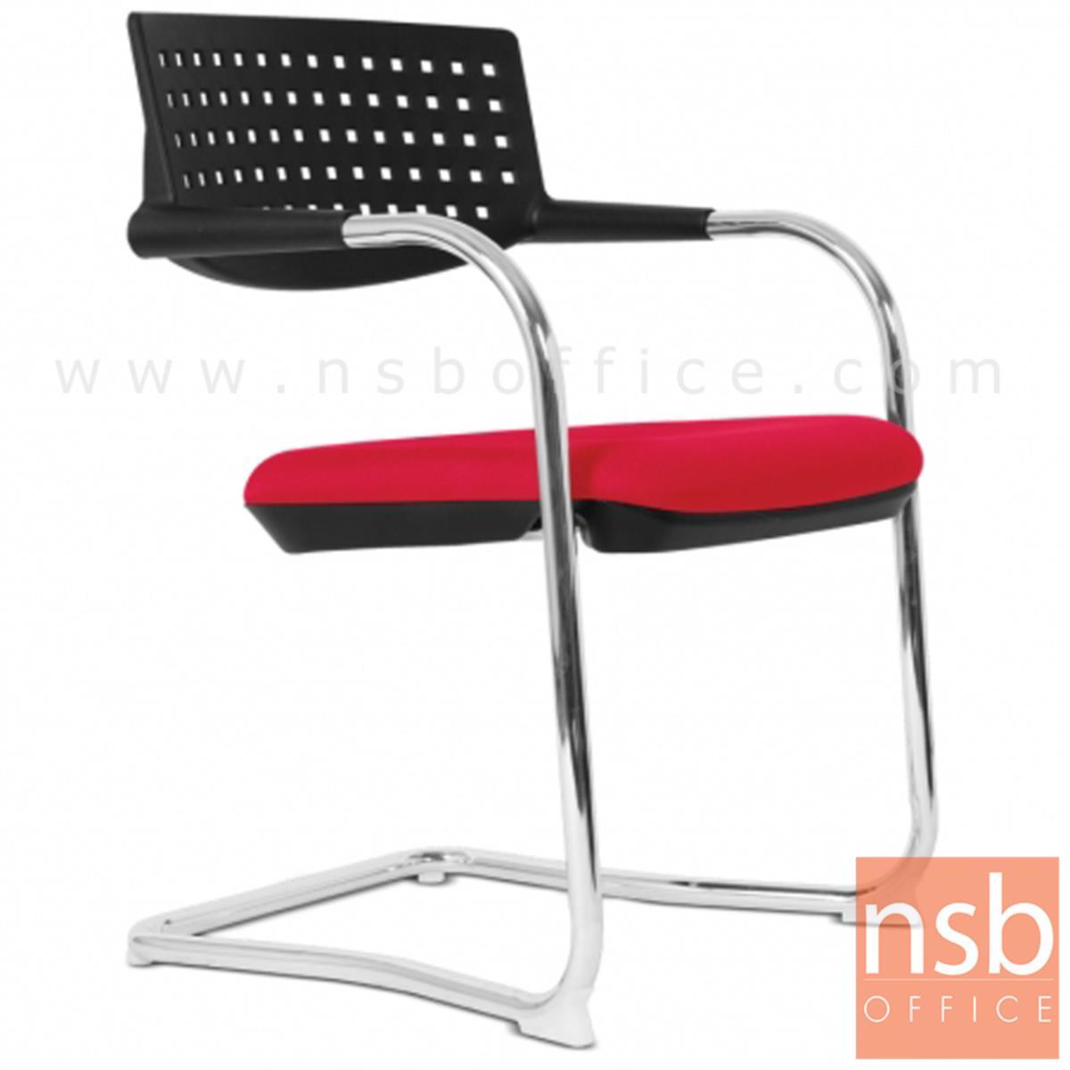 B04A131:เก้าอี้รับแขกขาตัวซีหลังเปลือกโพลี่ รุ่น Judith (จูดิธ)  ขาเหล็กชุบโครเมี่ยม