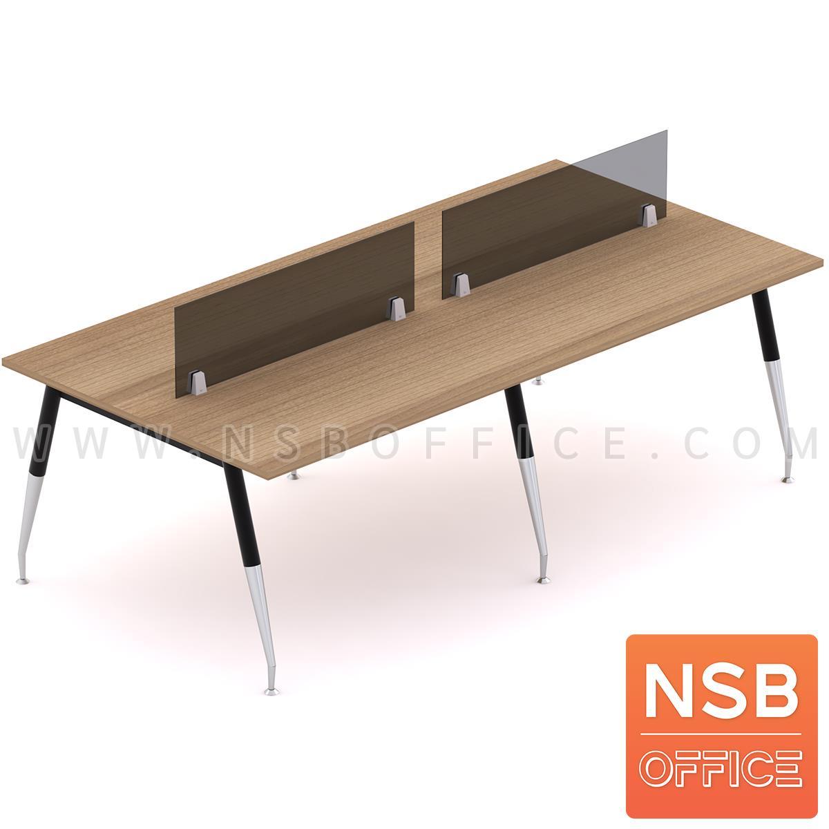 A27A054:โต๊ะทำงานกลุ่ม รุ่น Petula 2 (เพทูลา 2) ขนาด 240W*120D cm. ขาเหล็กปลายเรียว