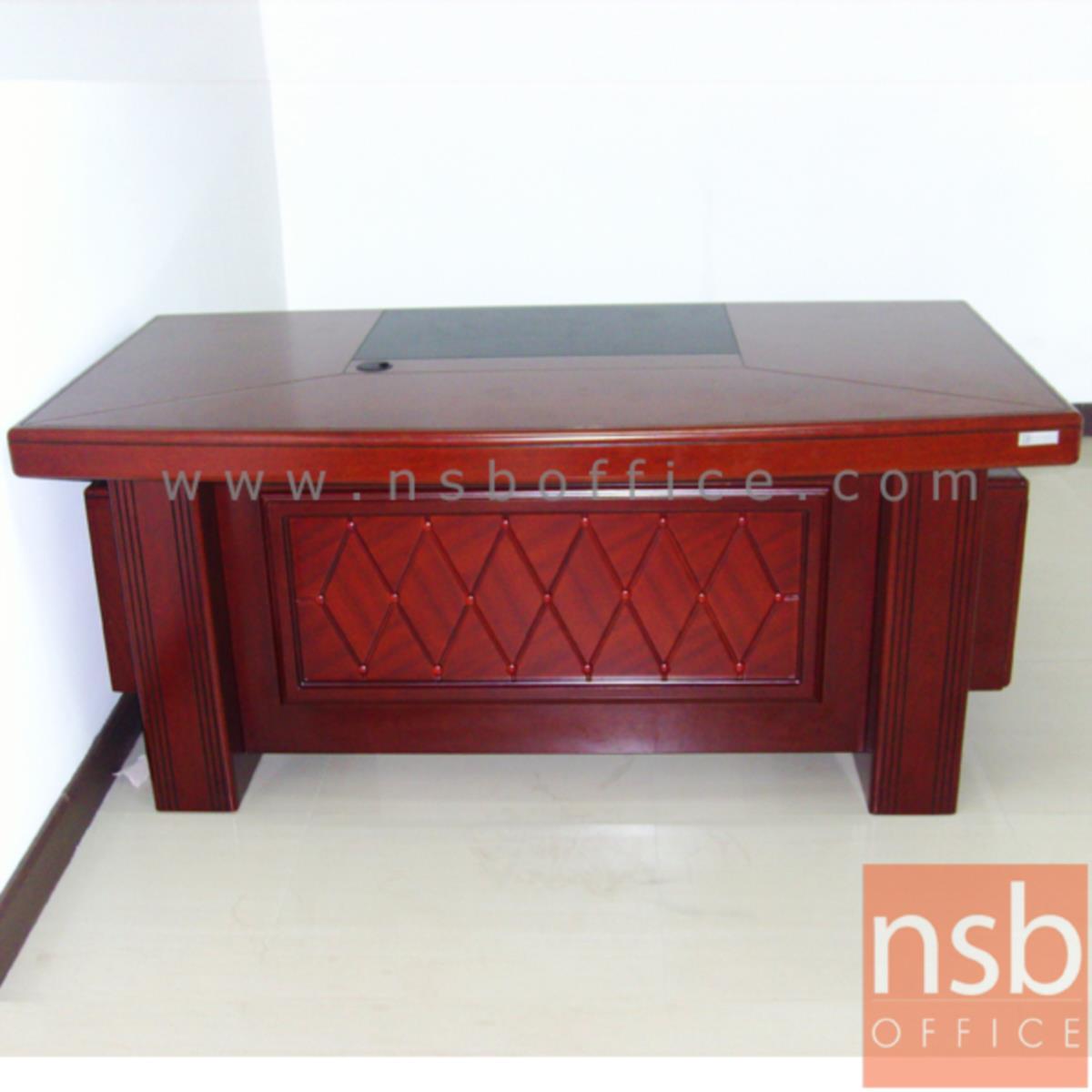 โต๊ะผู้บริหารตัวแอล รุ่น Leslie (เลสลี) ขนาด 160W cm. พร้อมตู้ลิ้นชักและตู้ข้าง
