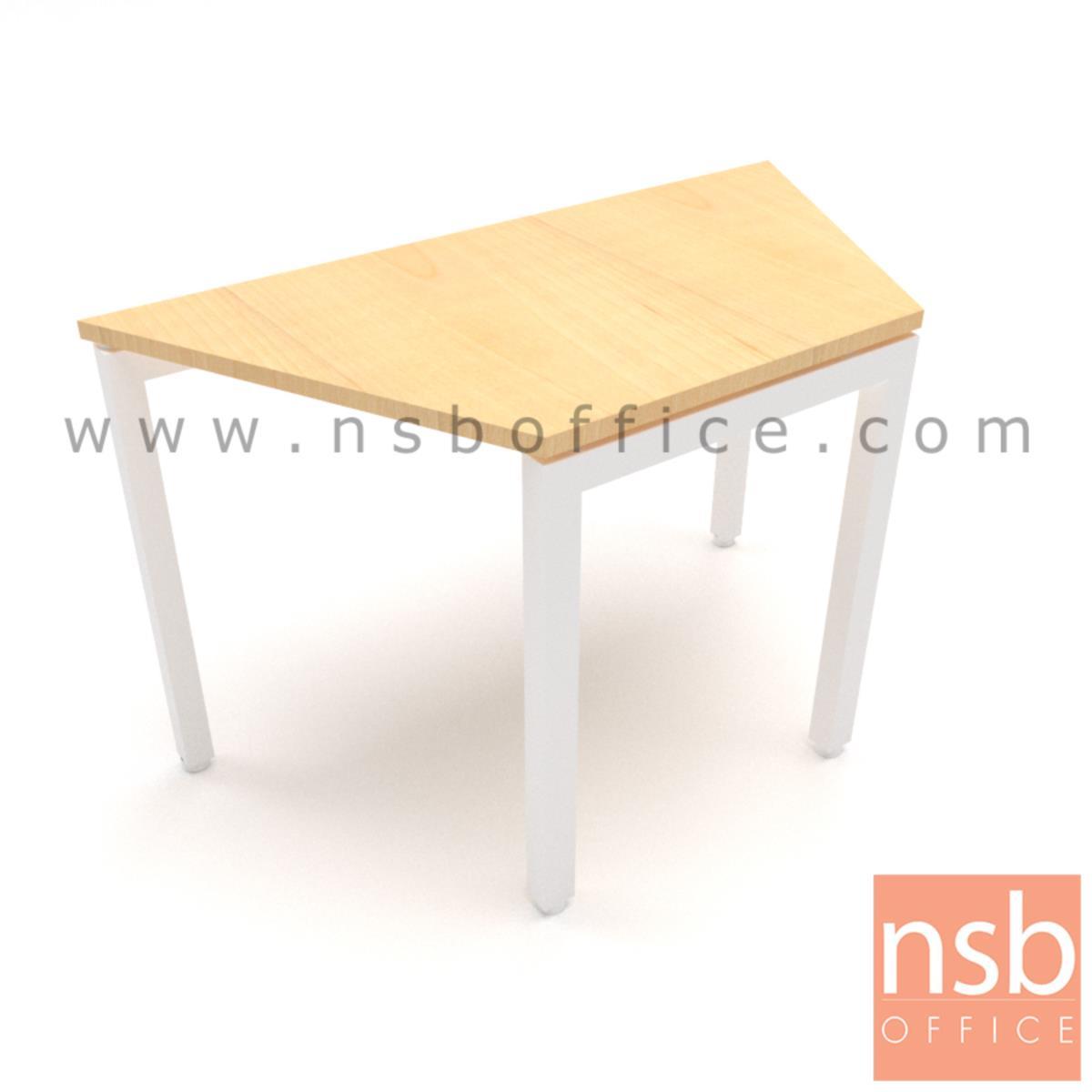 โต๊ะทำงานทรงคางหมูไม่มีล้อ รุ่น Pomelo (โพเมโล่) ขนาด 105W ,120W ,140W ,180W cm.  โครงขาเหล็กเหลี่ยม