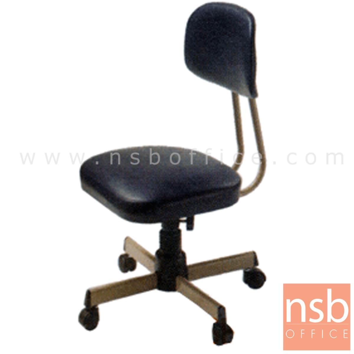 E28A084:เก้าอี้บาร์ที่นั่งเหลี่ยมล้อเลื่อน ยี่ห้อลัคกี้ รุ่น CH-403  ขาเหล็กชุบโครเมี่ยม