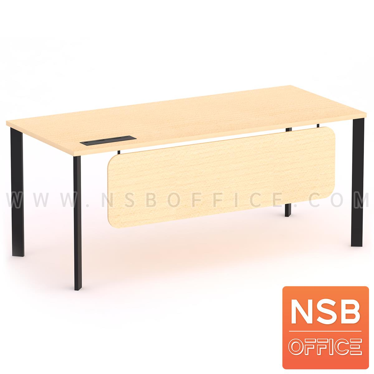 A30A035:โต๊ะทำงานผู้บริหาร รุ่น Oxecure (อ็อกซิเคียว)  พร้อมป๊อบอัพ ขาเหล็ก