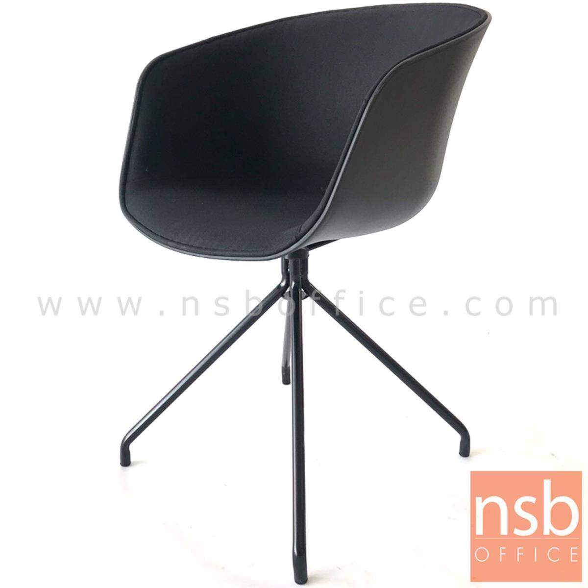 เก้าอี้โพลี่ที่นั่งหุ้มผ้า รุ่น Bonita (โบนิต้า) ขนาด 55W cm. ขาเหล็กดำ