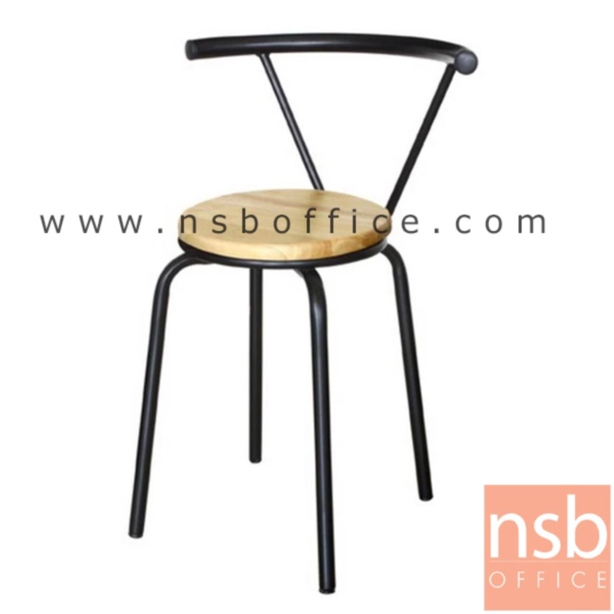 B20A085:เก้าอี้อเนกประสงค์ไม้ รุ่น Dimond  ขาเหล็กพ่นดำ