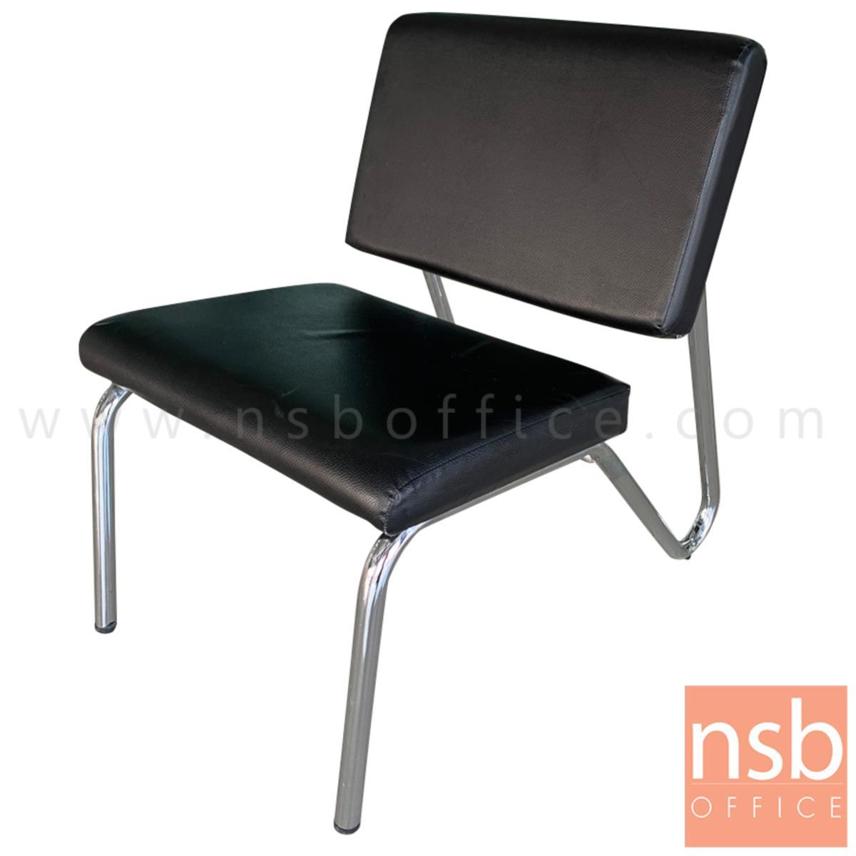 B22A028:เก้าอี้ตัวเดี่ยวหนังเทียม  รุ่น Valiente (วาเลียนเต) ขนาด 50W cm. โครงเหล็กชุบโครเมี่ยม