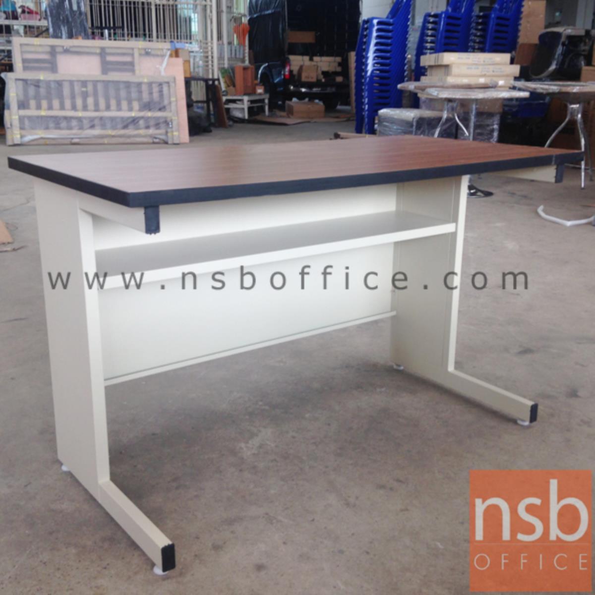 โต๊ะประชุมตรง รุ่น Amolika (อโมลิก้า) ขนาด 119.7W ,152.5W ,182.5W cm.  ขาเหล็กตัวแอล