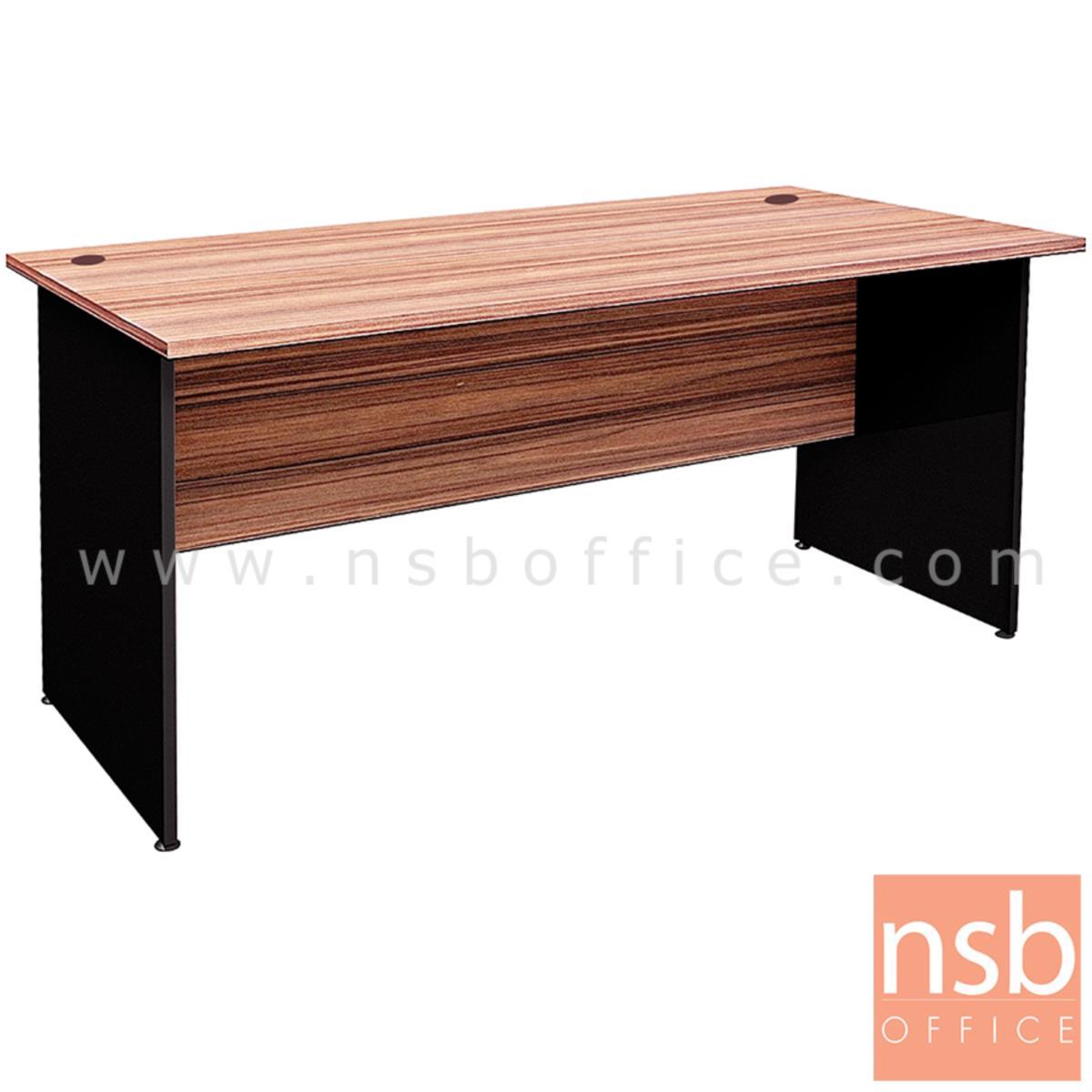 A33A063:โต๊ะทำงานโล่ง  รุ่น Marten (มาร์เทน) ขนาด 160W cm. เมลามีน สีวอลนัทตัดดำ