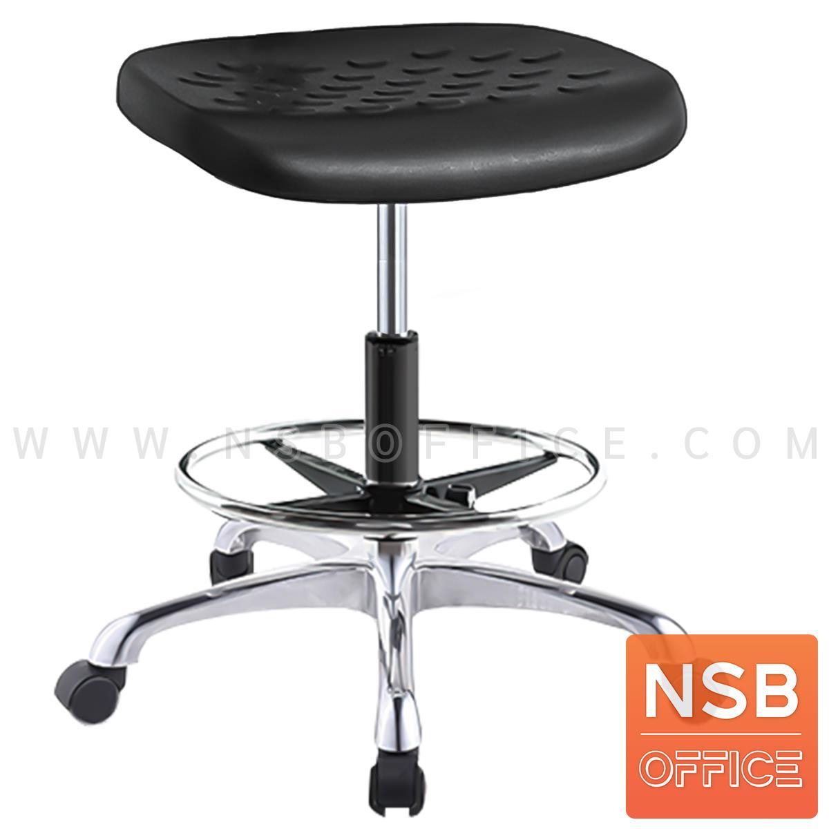 B02A112:เก้าอี้บาร์สตูลที่นั่งเหลี่ยม รุ่น Sulli (ซอลลี่) มีวงเหยียบ โช๊คแก๊ส ขาอลูมิเนียม