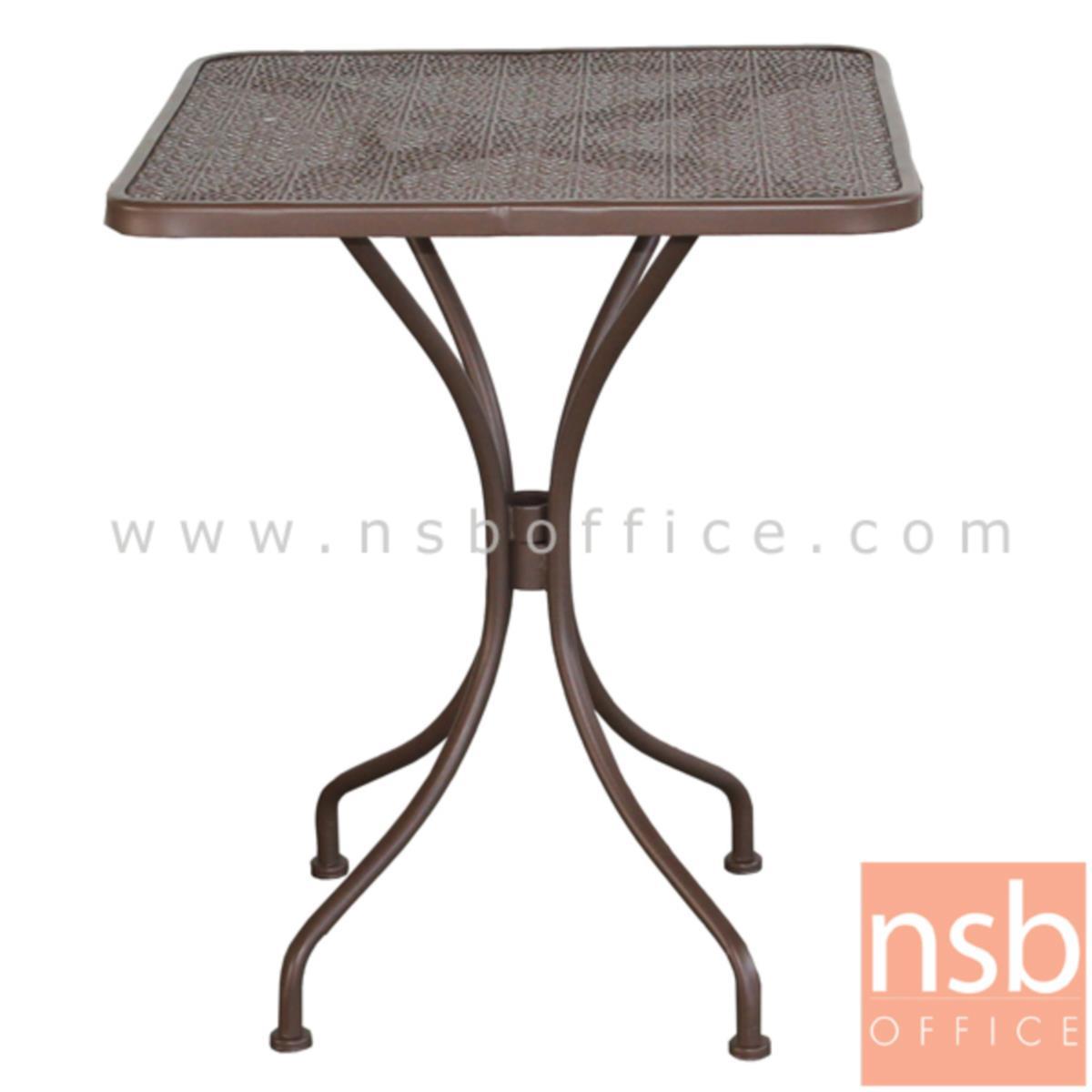 G08A247:โต๊ะสนามโครงเหล็กหน้าท็อปเหลี่ยม 60W*60D*71H cm. รุ่น WISDOM-01 ขาเหล็กพ่นสี (ไม่รวมเก้าอี้)
