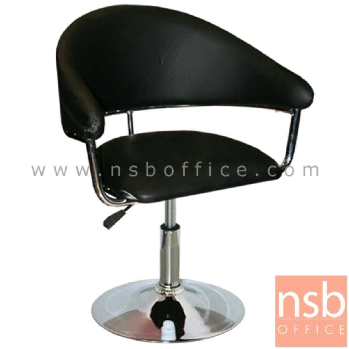 B22A043:เก้าอี้ตัวเดี่ยวหนังเทียม  รุ่น Iron Maiden (ไอเอิร์นเมเดน) ขนาด 69W cm. โช๊คแก๊ส โครงเหล็กชุบโครเมี่ยม