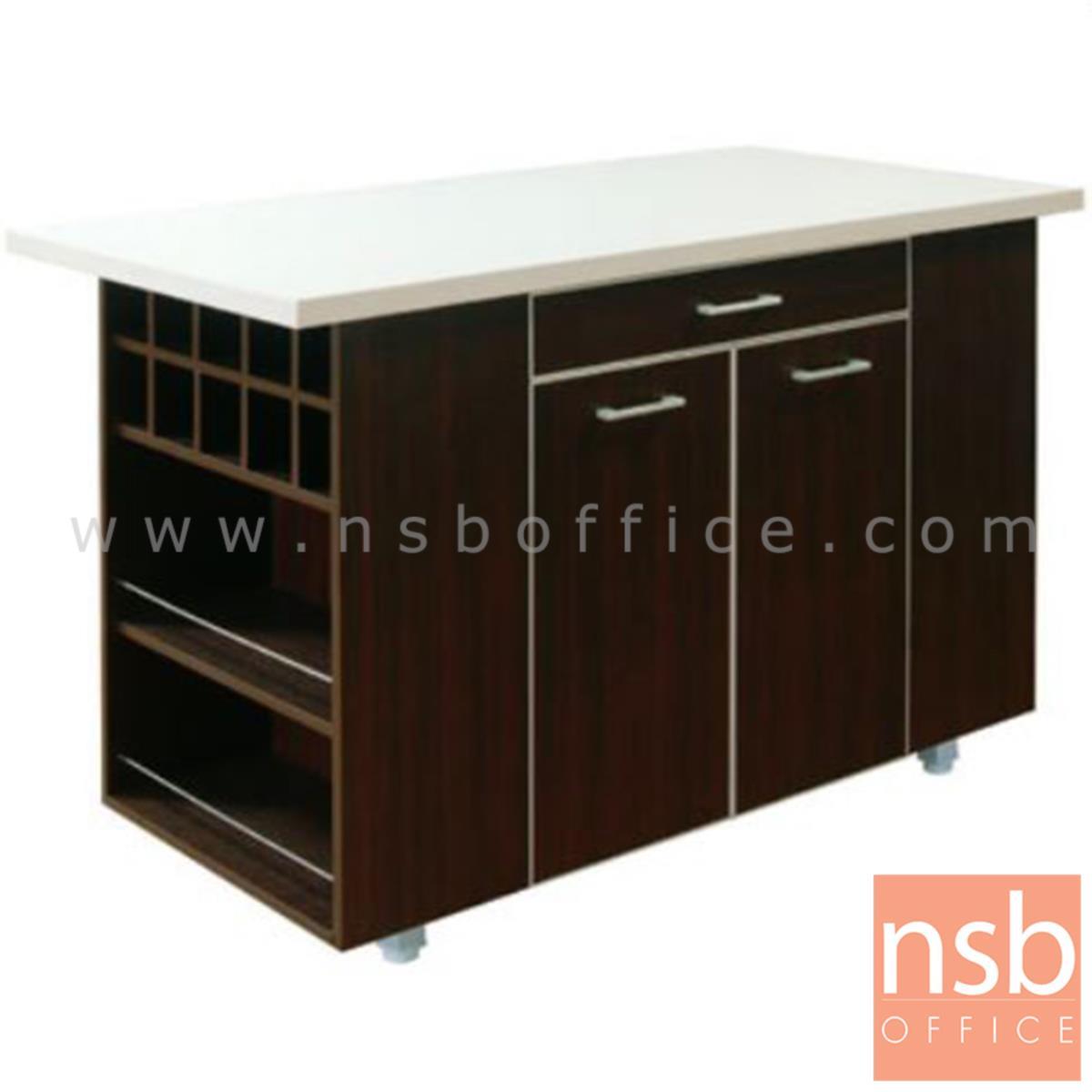 K01A010:โต๊ะวางของกลางครัว 150 ซม. รุ่น Hilmar มีถาดวางอุปกรณ์