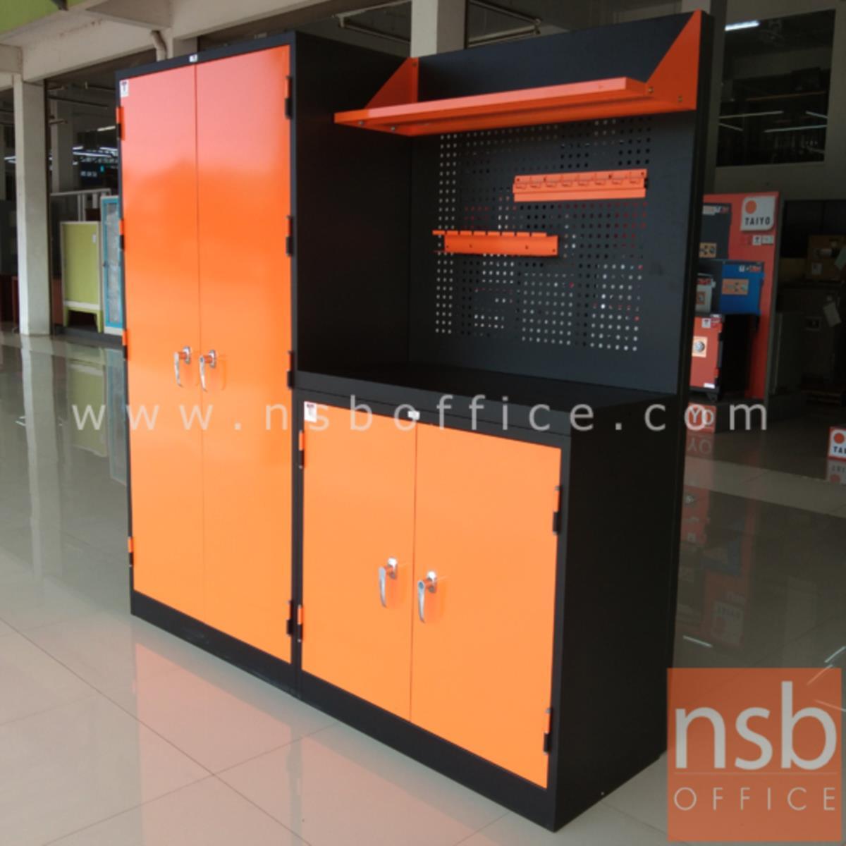 ชุดตู้เก็บเครื่องมือช่าง 183.5W*49.7D*183H cm.พร้อมแผ่นท็อปแผ่นชั้นและอุปกรณ์เสริม