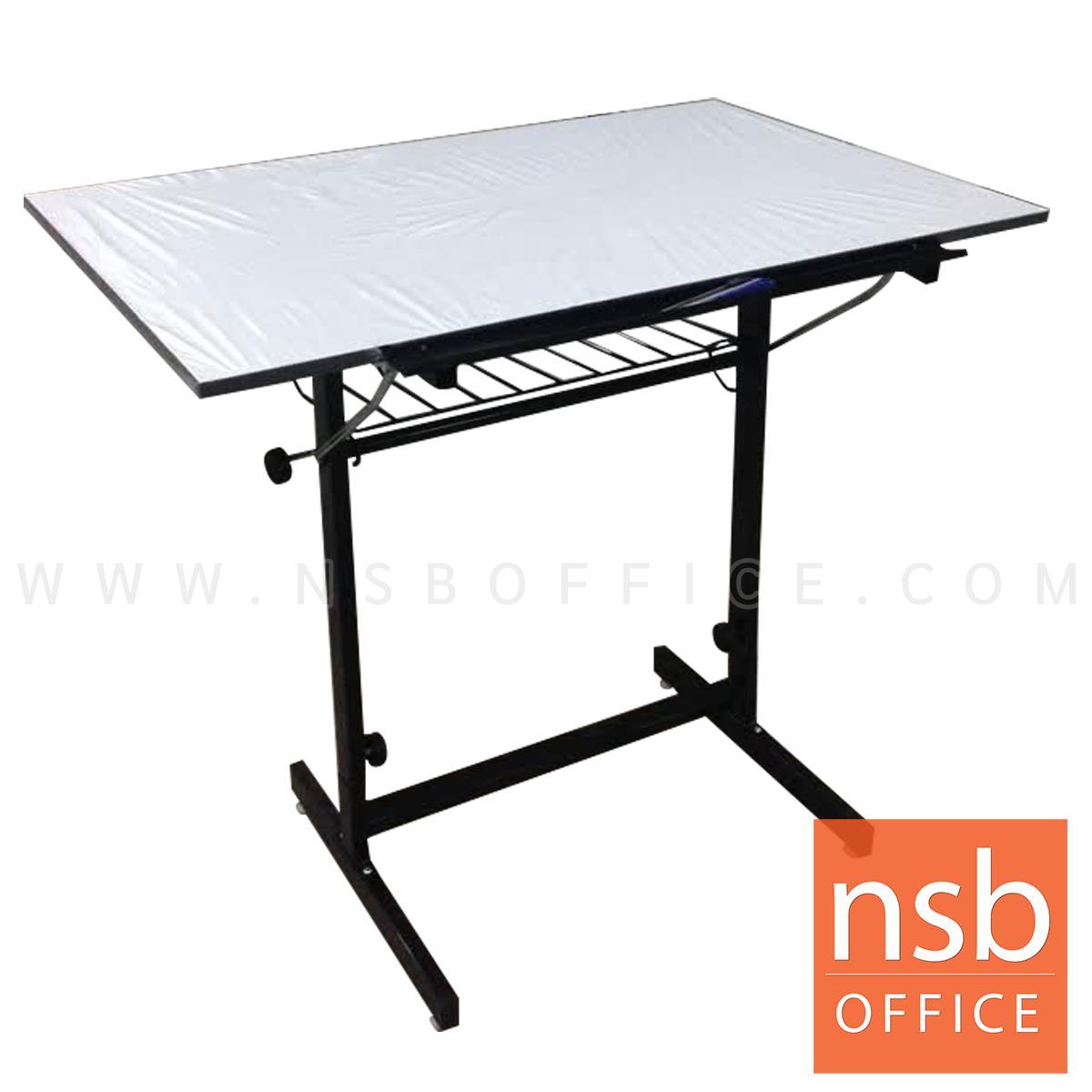 โต๊ะเขียนแบบ 80W*60D*95.3H cm. ปรับองศาได้ มีตะแกรงข้างใต้ รุ่น DT-6080