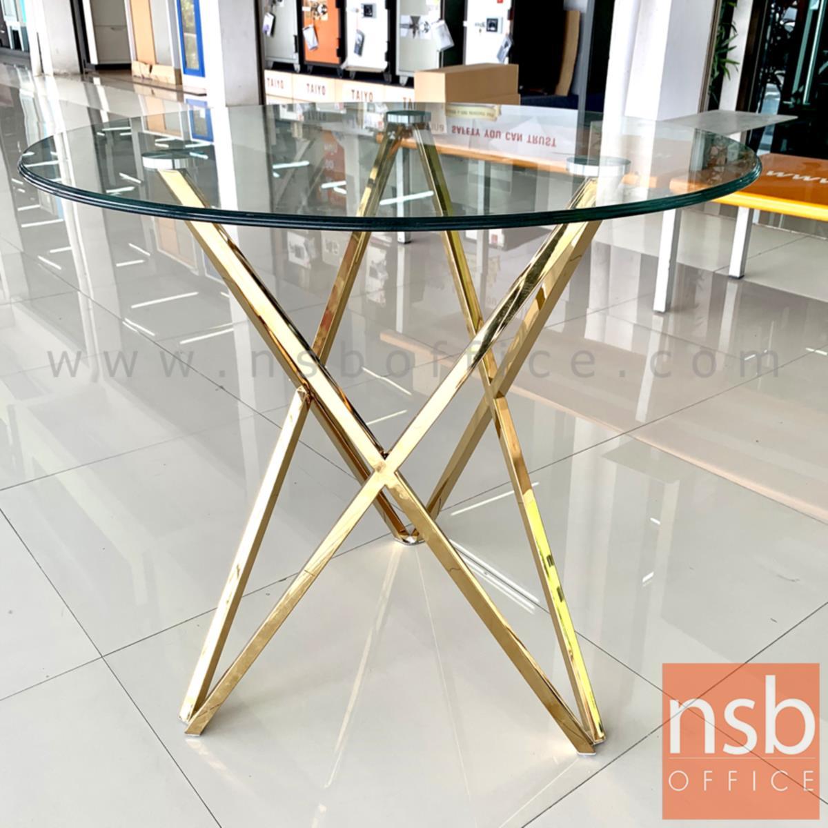 โต๊ะกลมหน้ากระจก รุ่น Gabriel (กาเบรียล) ขนาด 80Di cm.