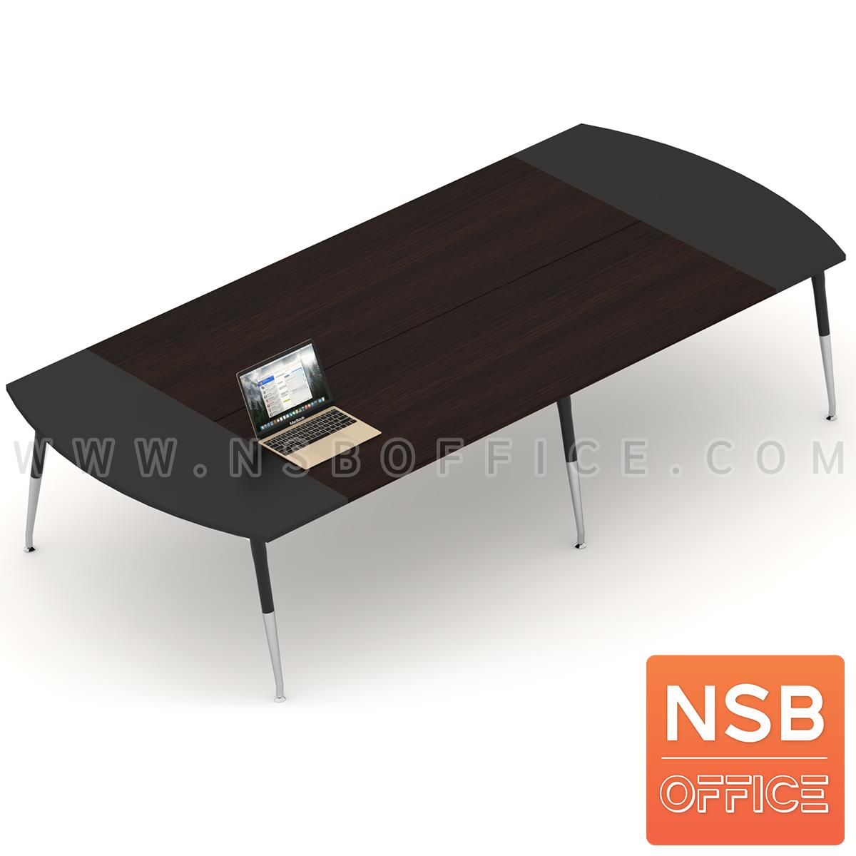 A05A102:โต๊ะประชุมหัวโค้ง ขาปลายเรียว ลึก 150 cm.