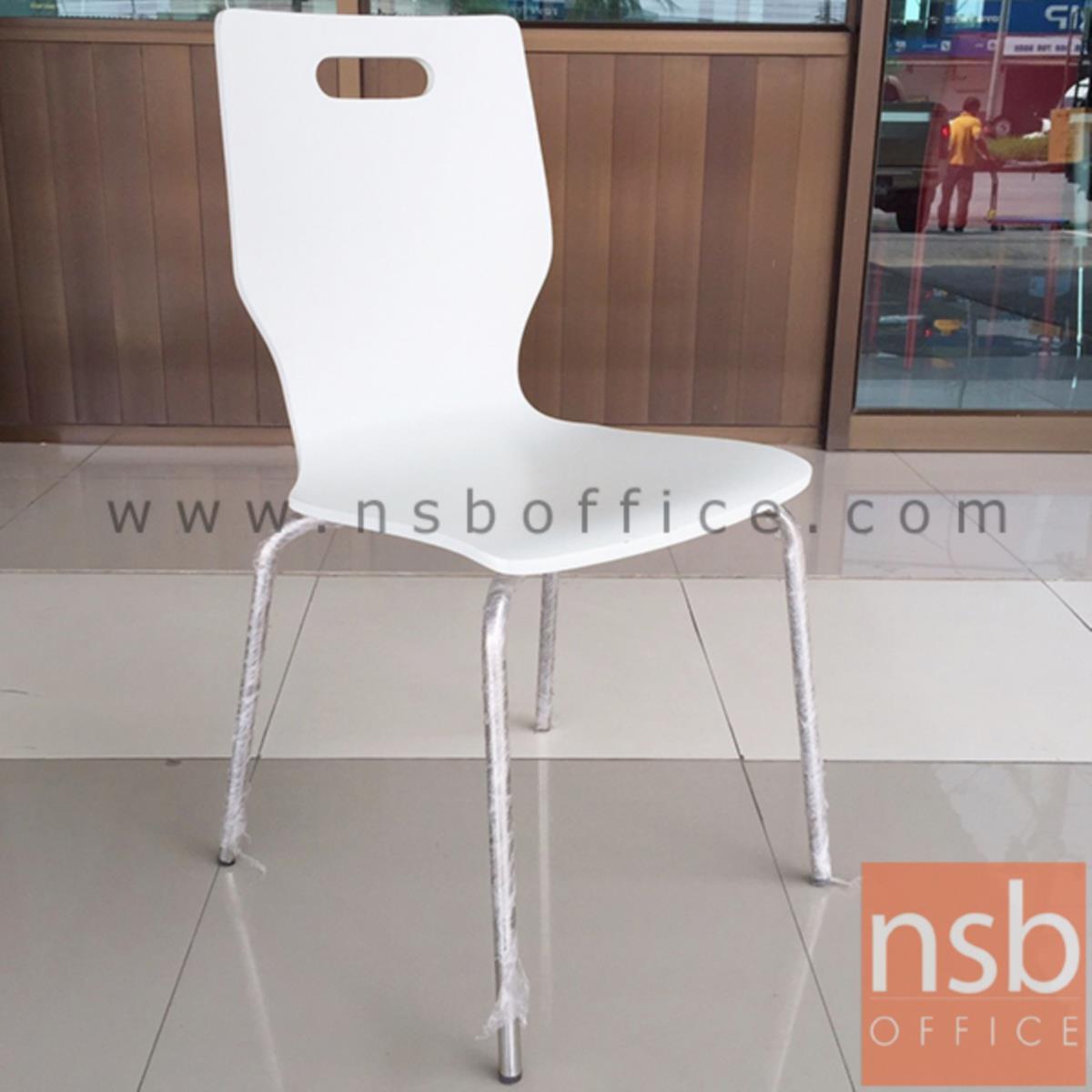 เก้าอี้อเนกประสงค์ไม้ รุ่น Swayze (สเวซี) ขนาด 86H cm.  ขาเหล็กชุบโครเมี่ยม