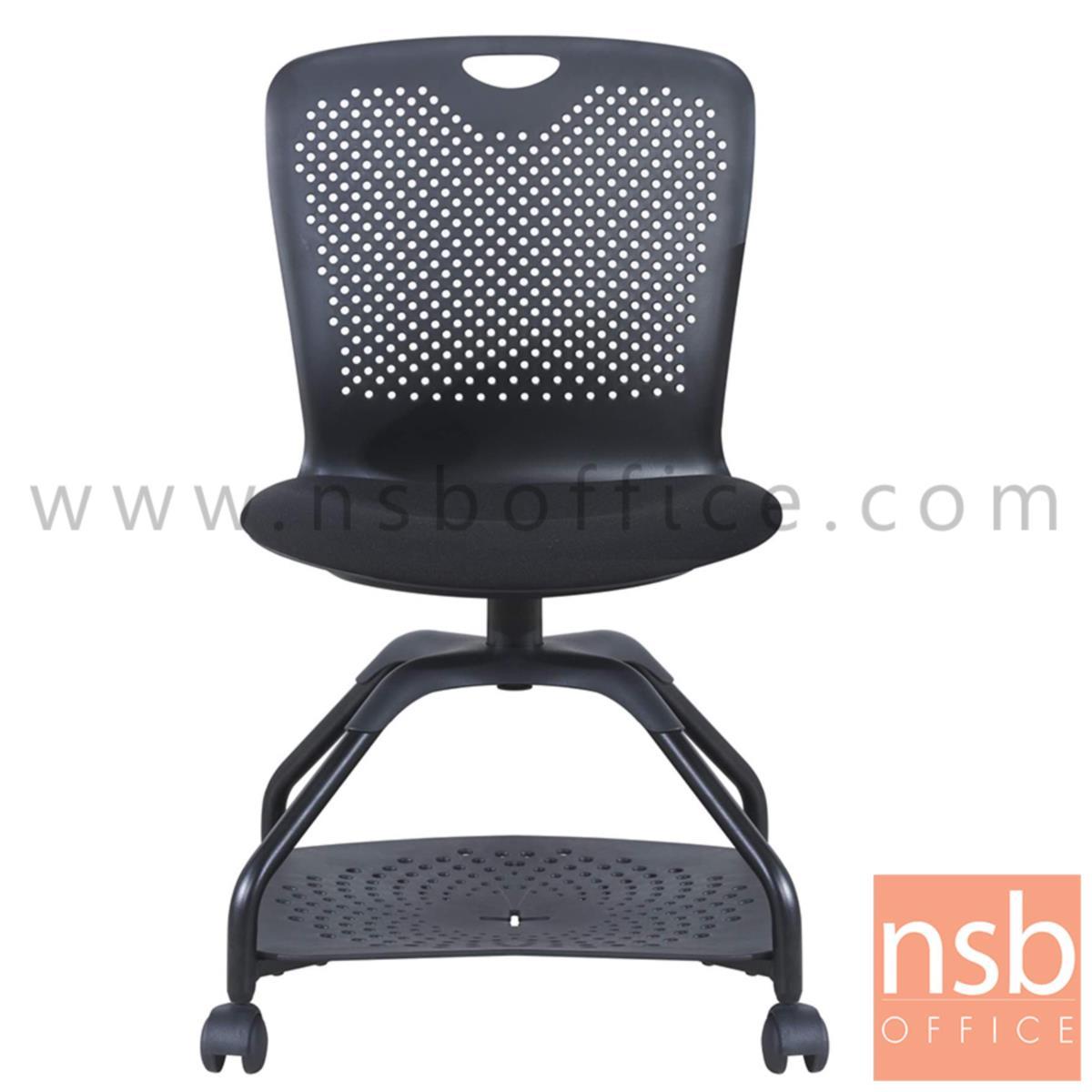 เก้าอี้เฟรมโพลี่ล้อเลื่อน รุ่น Coral (คอรัล)  ไม่มีแผ่นเลคเชอร์ ฐานวางกระเป๋าได้