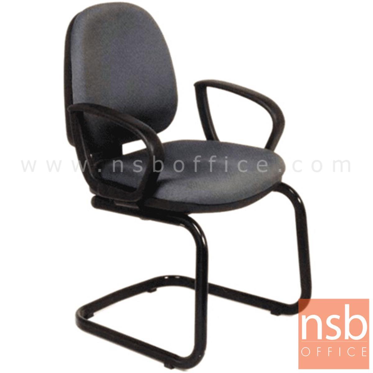 B04A124:เก้าอี้รับแขกขาตัวซี รุ่น CH-92D213  เบาะ 2 ชิ้น ขาเหล็กพ่นดำ