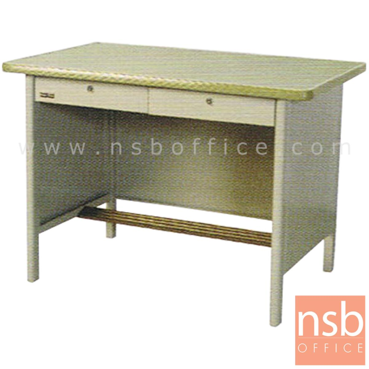 E06A013:โต๊ะทำงานเหล็ก 2 ลิ้นชัก รุ่น M-13,M-14,M-15,M-11,M-12  พร้อมกระจก