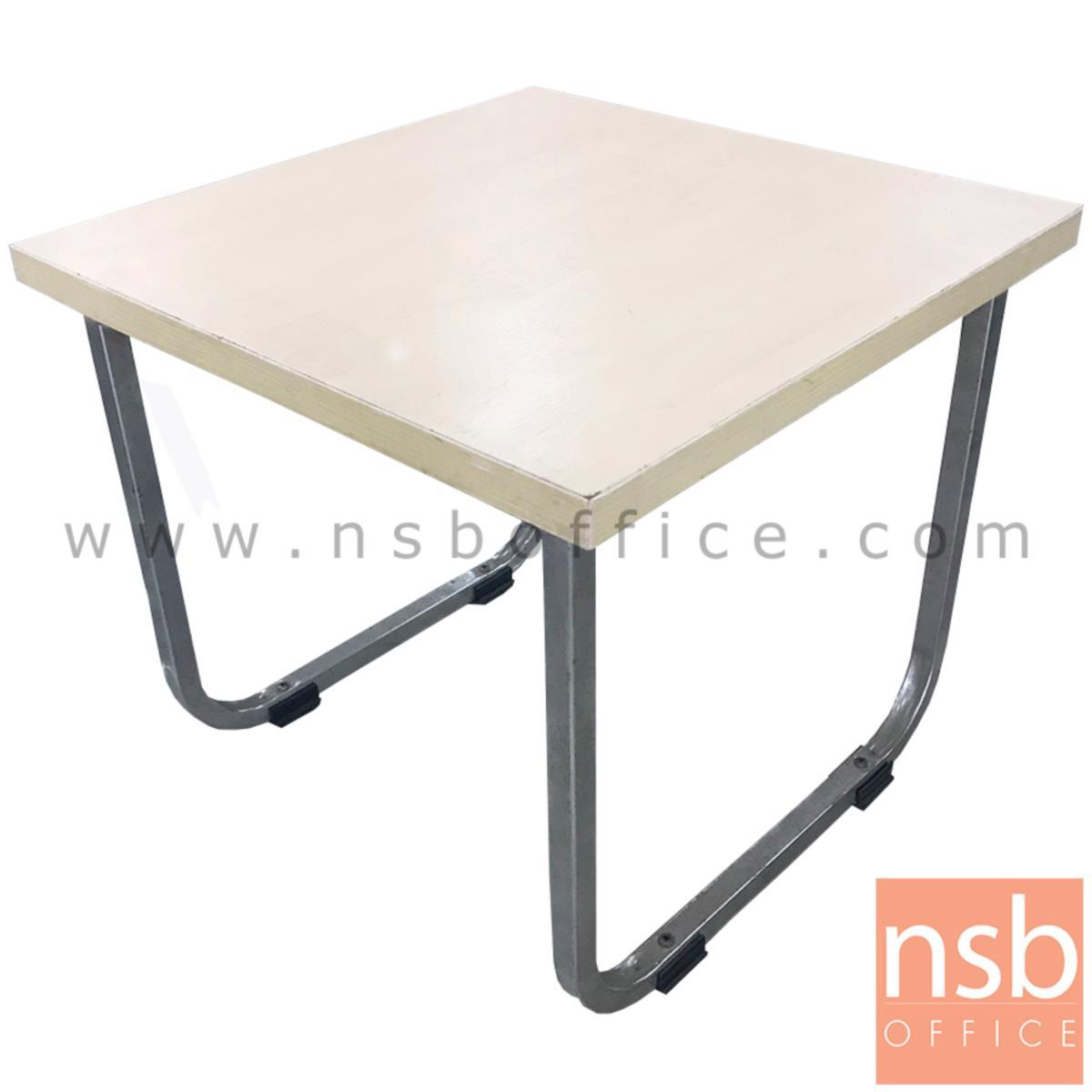L01A138:โต๊ะกลาง หน้าTOP ไม้เมลามีน  ขนาด 46W*41H cm. ขาเหล็ก