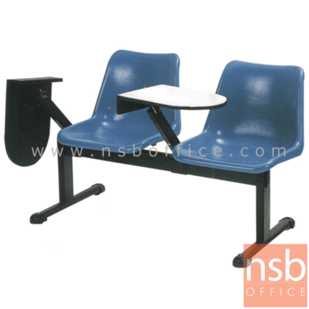 เก้าอี้เลคเชอร์แถวเฟรมโพลี่ รุ่น D170 2 ,3 , และ 4 ที่นั่ง ขาเหล็กเหลี่ยม