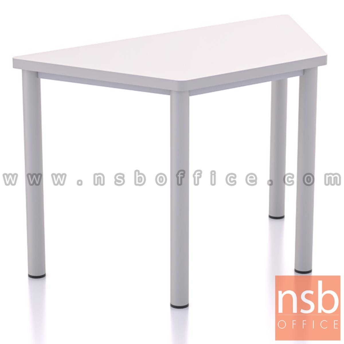 B30A061:โต๊ะทำงานทรงคางหมู รุ่น Mulrey (มัลเรย์) ขนาด 120W cm.  โครงขาสีขาว (ราคาต่อตัว)
