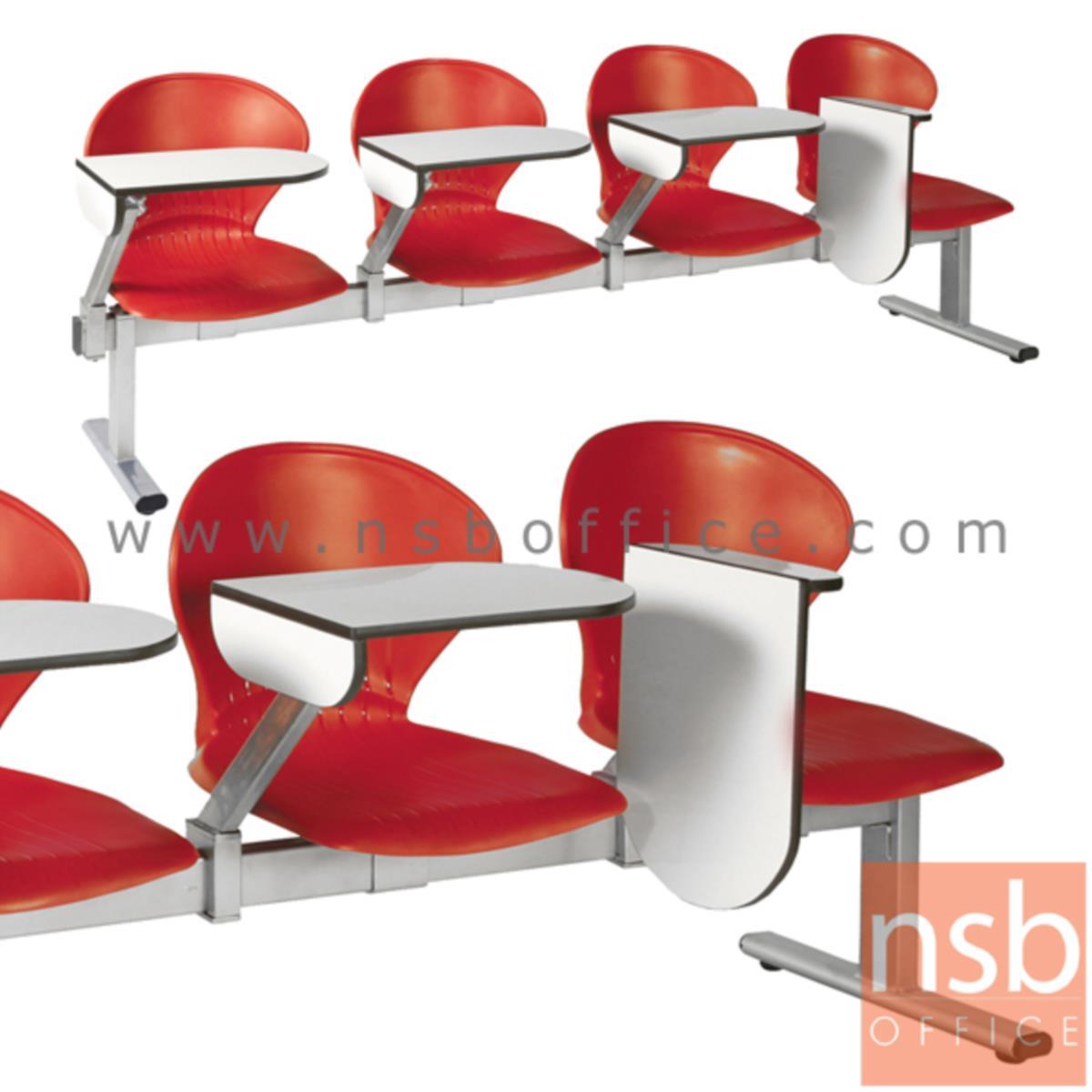 B17A028:เก้าอี้เลคเชอร์แถวเฟรมโพลี่ รุ่น D876 2 ,3 และ 4 ที่นั่ง ขาเหล็กพ่นสีเทา