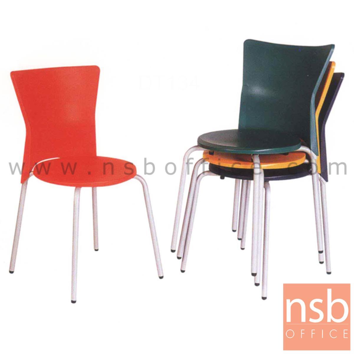 B05A066:เก้าอี้อเนกประสงค์เฟรมโพลี่ รุ่น TD-431  ขาเหล็กพ่นสีบรอนซ์
