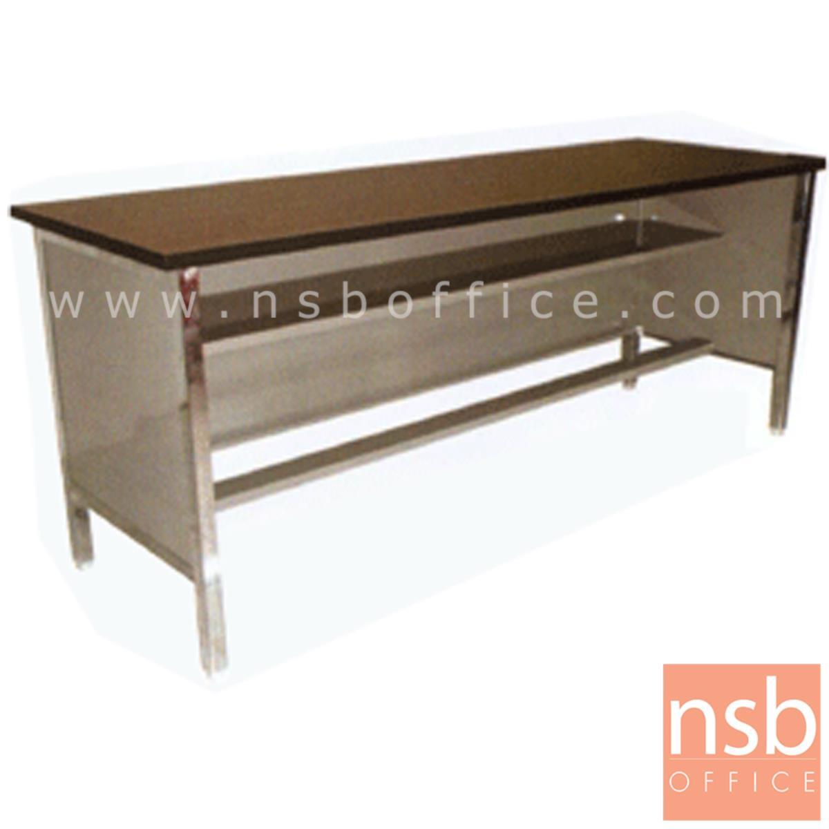 A05A036:โต๊ะประชุมตรง  รุ่น Bina (บีน่า) ขนาด 119.7W ,152.5W ,182.5W*60D cm.  โครงเหล็ก