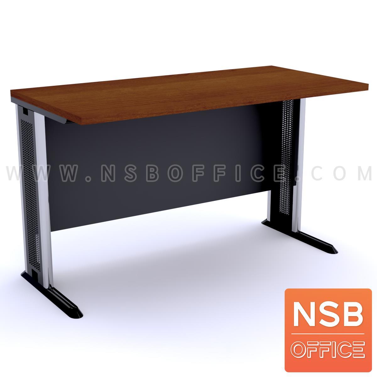 A10A046:โต๊ะทำงาน บังโป๊ไม้  ขนาด 80W-180W (60D, 75D, 80D) cm. ขาเหล็กตัวแอล