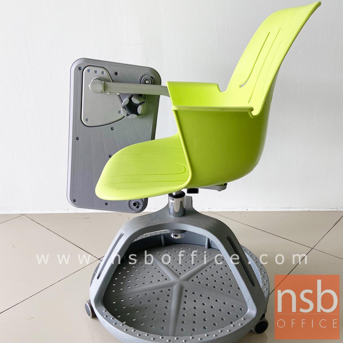 เก้าอี้เลคเชอร์เฟรมโพลี่ล้อเลื่อน รุ่น Dion (ดิออน)  ฐานกลมวางกระเป๋าได้