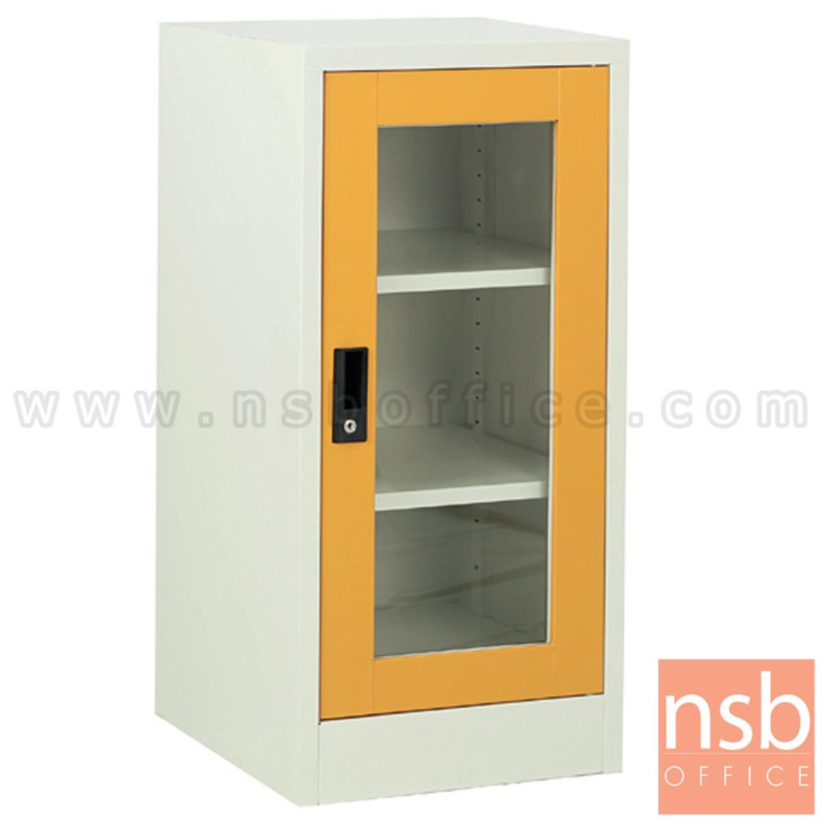 E07A046:ตู้บานเปิดกระจกเตี้ย  รุ่น EL-S4060 ขนาด  40W,60W cm.  กุญแจล็อก