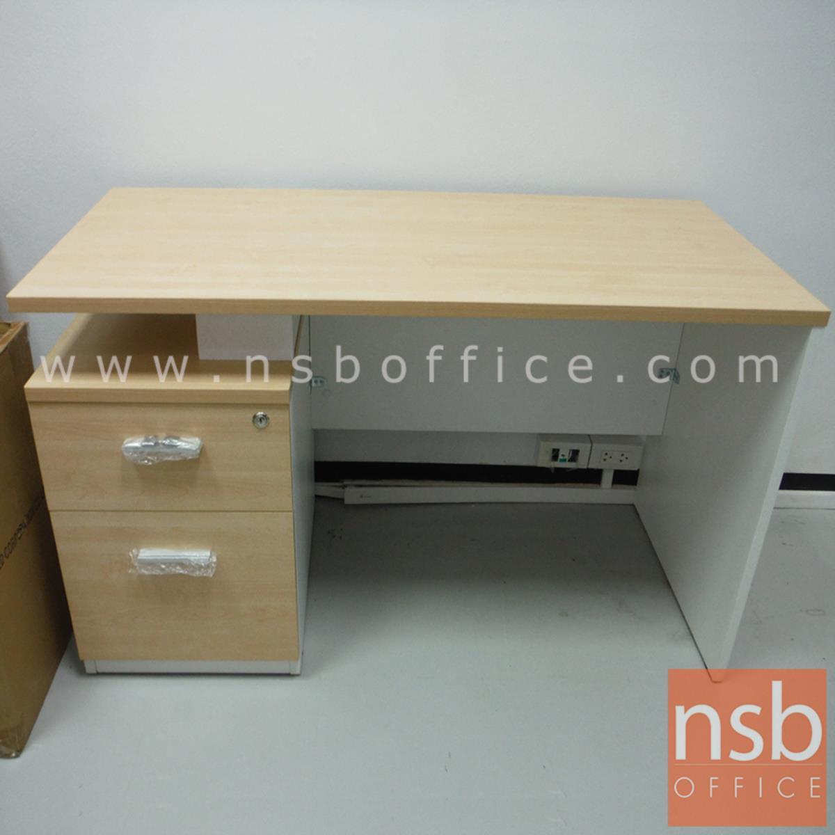 A12A061:โต๊ะทำงาน 2 ลิ้นชัก รุ่น VARIOUS-2 ขนาด 120W,135W,150W,160W*(60D, 75D, 80D) cm. เมลามีน