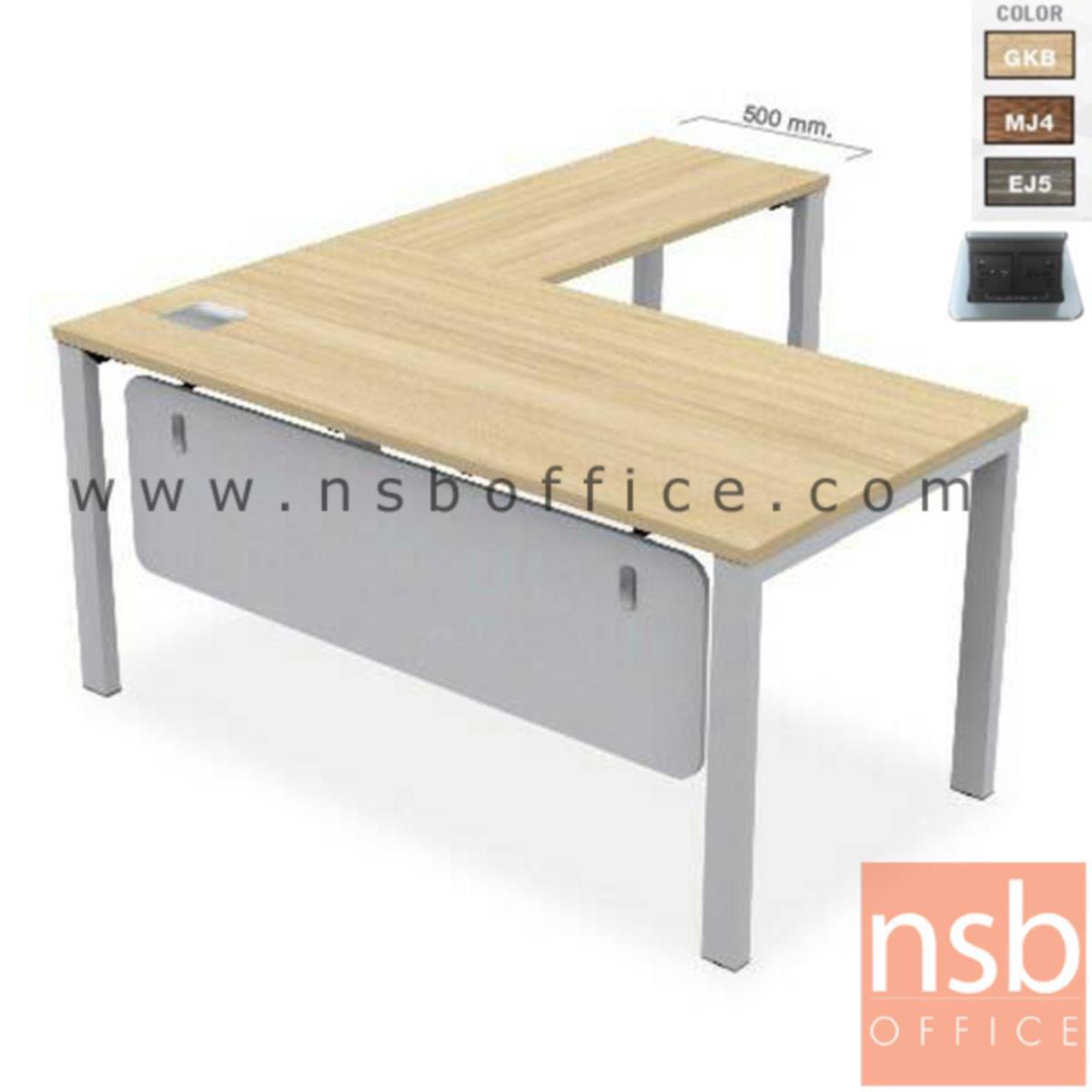 A16A066:โต๊ะทำงานตัวแอล  รุ่น TYN-1616  ขนาด 160W cm. พร้อมป็อบอัพ ขาเหล็ก