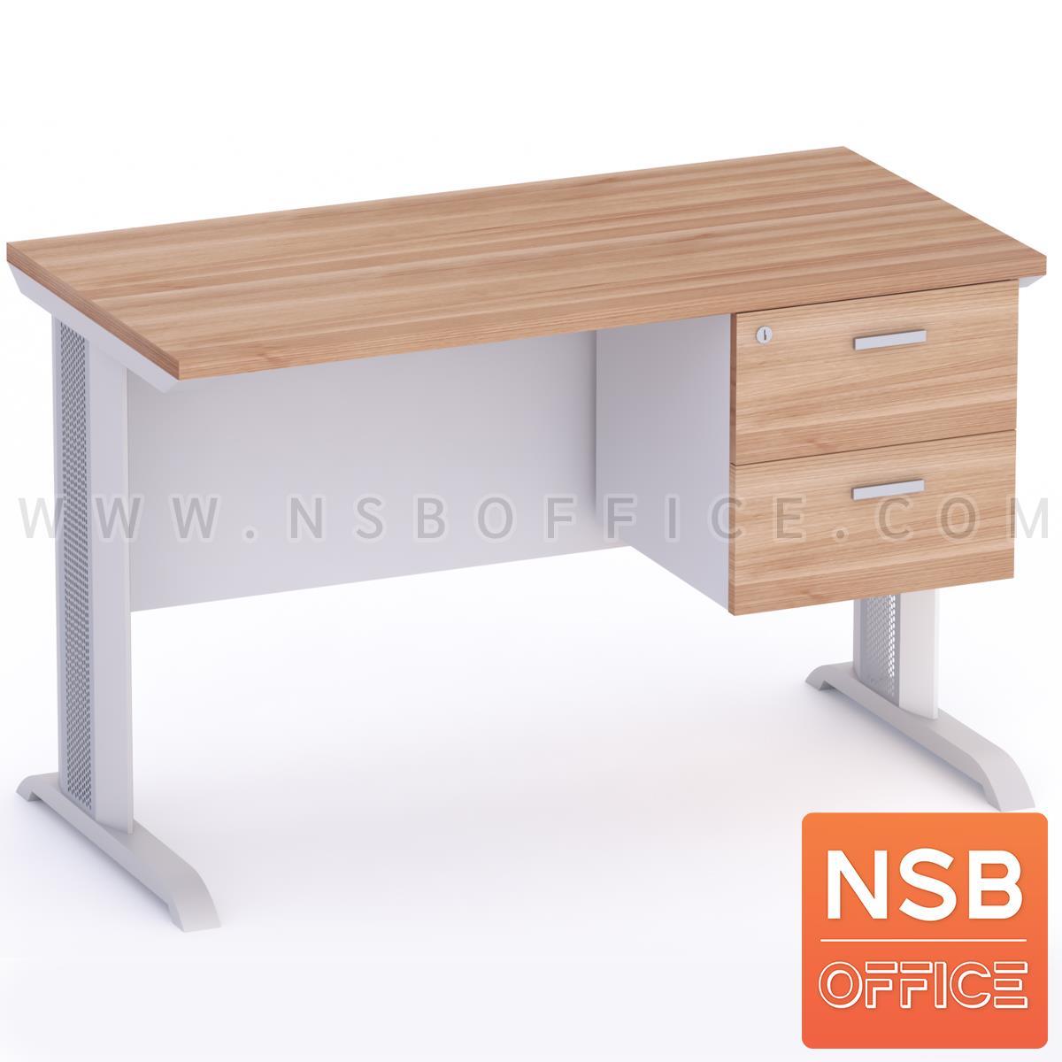 A18A001:โต๊ะทำงาน 2 ลิ้นชัก รุ่น Sutton (ซัตตัน) 120W, 135W, 150W, 180W (60D) cm. ขาเหล็กตัวแอล