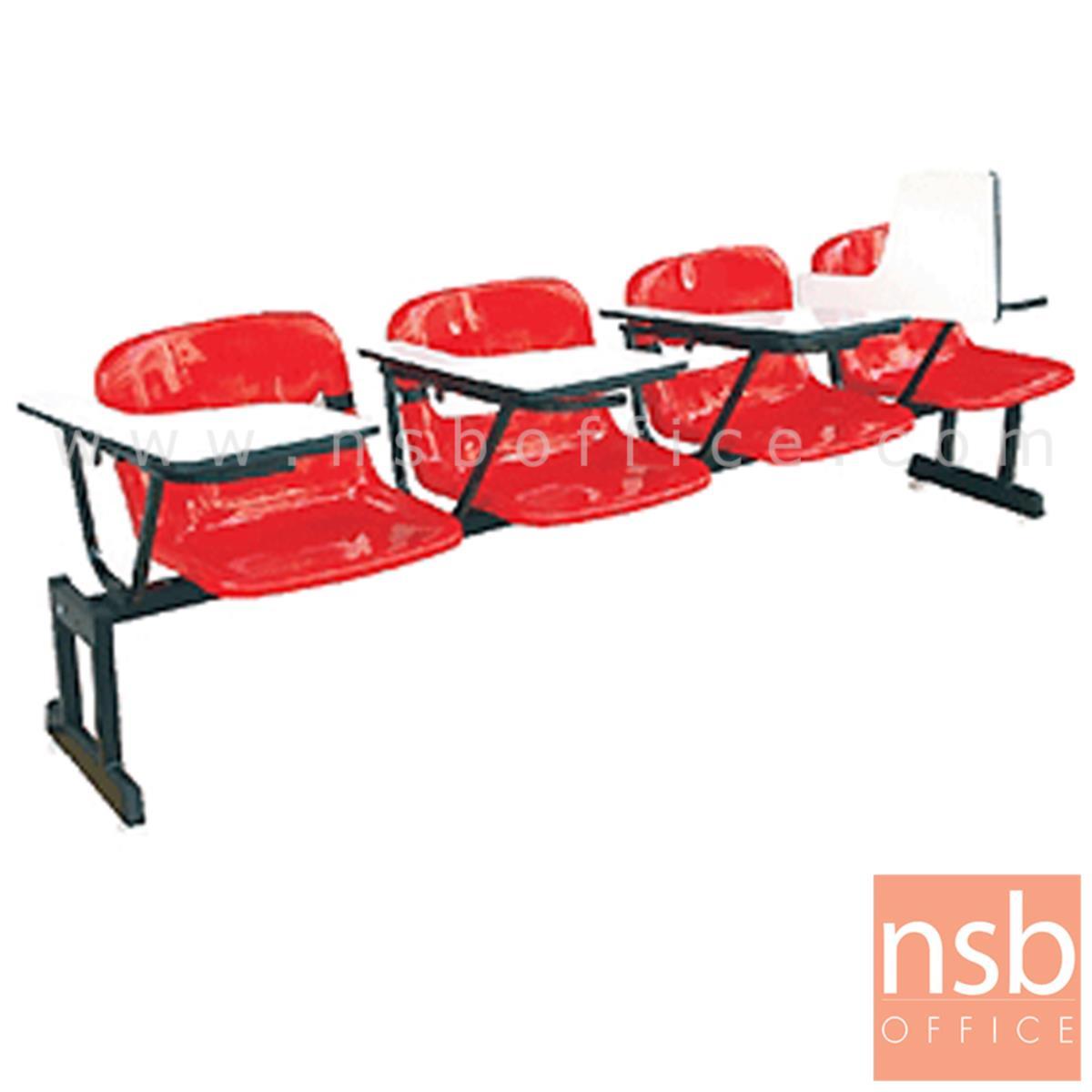 B17A035:เก้าอี้เลคเชอร์แถวเฟรมโพลี่ รุ่น POLY-001  3 และ 4 ที่นั่ง ขาเหล็กเหลี่ยมแบบขาคู่พ่นดำ