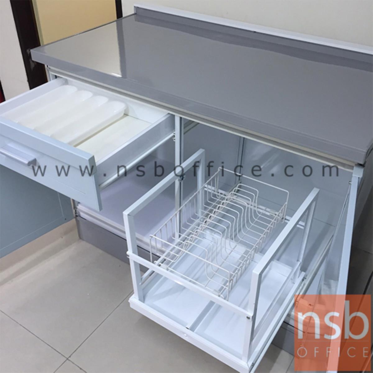 ตู้เคาน์เตอร์หน้าเรียบ รุ่น MT1015 ขนาด 100 (2 บาน) , 150 (3 บาน) cm.