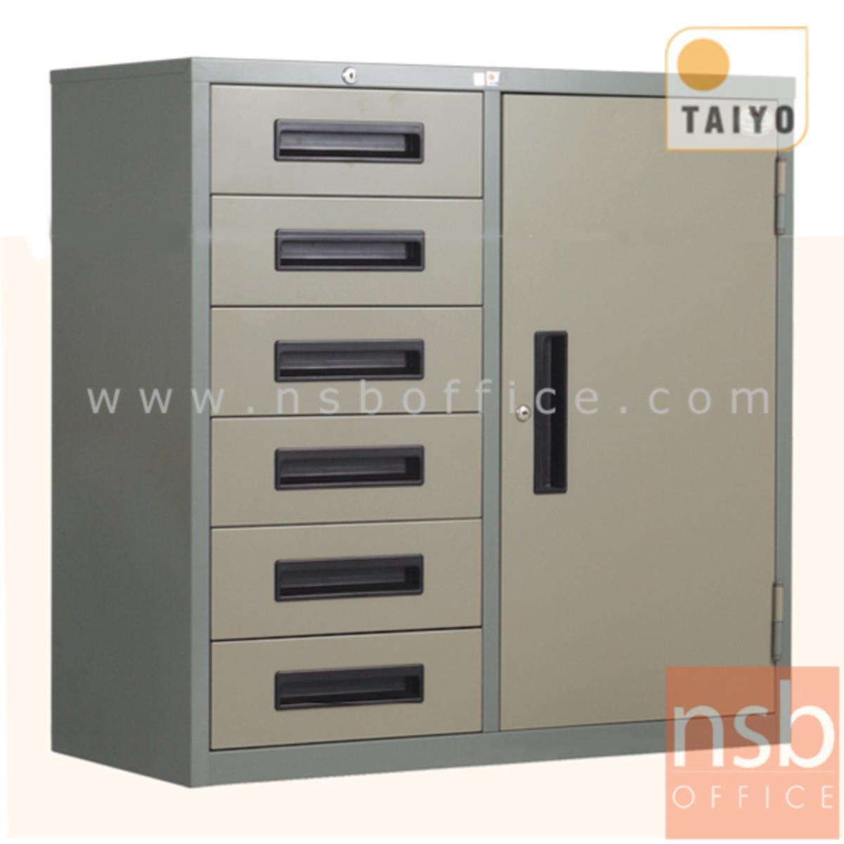 E02A013:ตู้เหล็กเอนกประสงค์ 1 ประตู 6 ลิ้นชัก (ขนาด 3 ฟุต) รุ่น RD-106