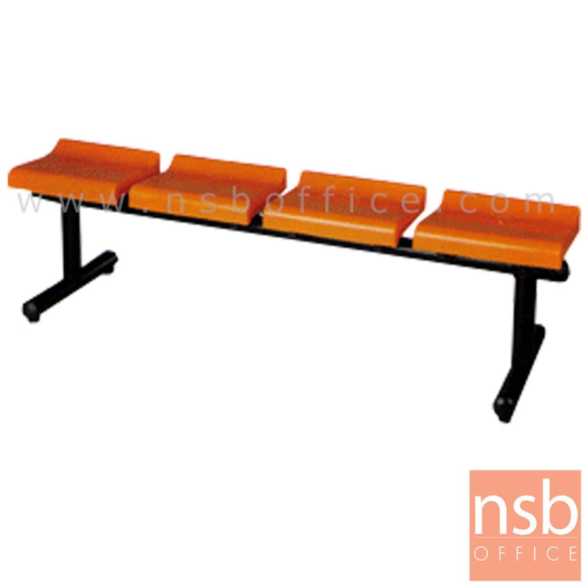 B06A018:เก้าอี้นั่งคอยเฟรมโพลี่  2 ,3 ,4 ที่นั่ง ขนาด 100W ,149W ,198W cm. ขาเหล็ก