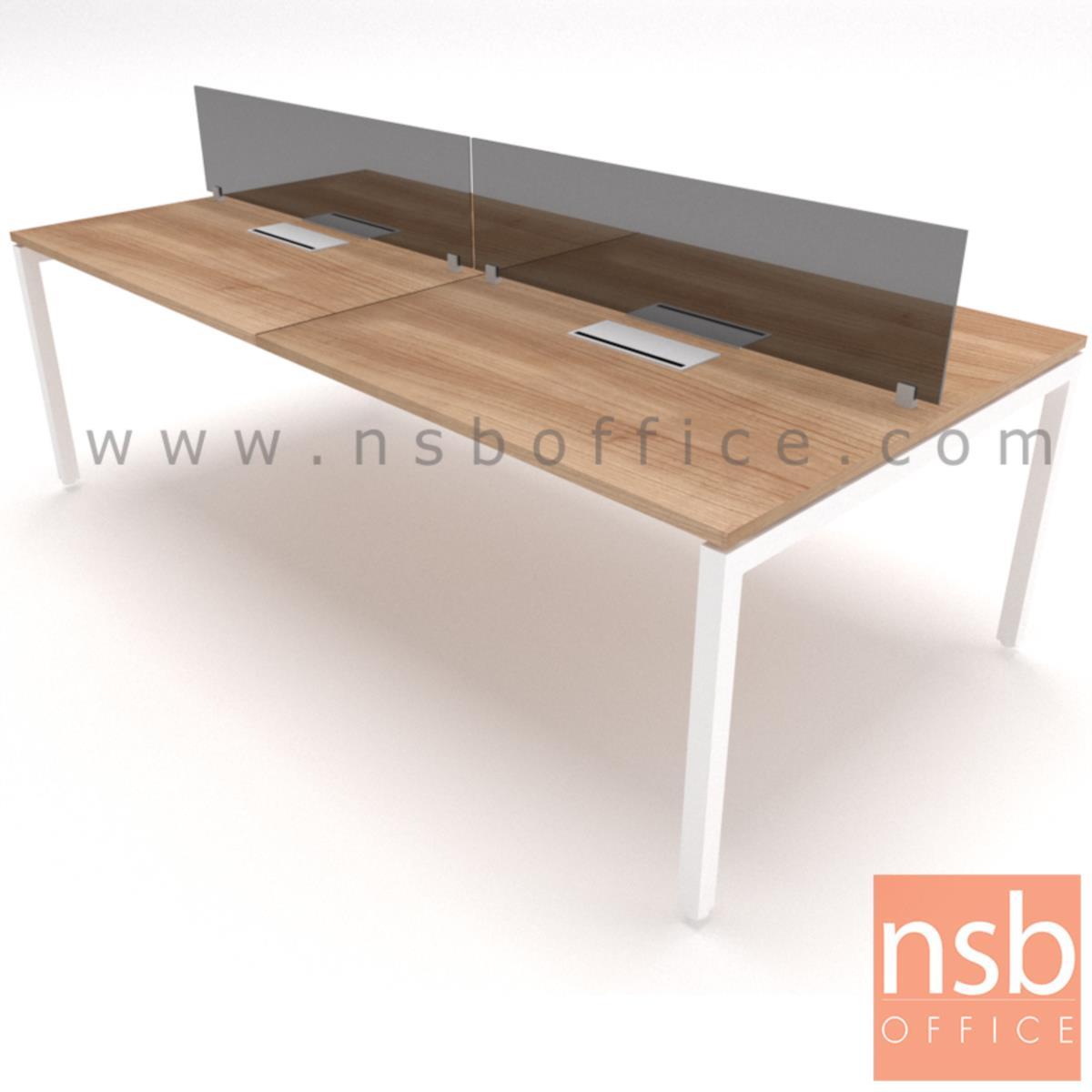 A04A140:ชุดโต๊ะทำงานกลุ่ม รุ่น Smart  พร้อมมินิสกรีนและกล่องไฟทุกที่นั่ง