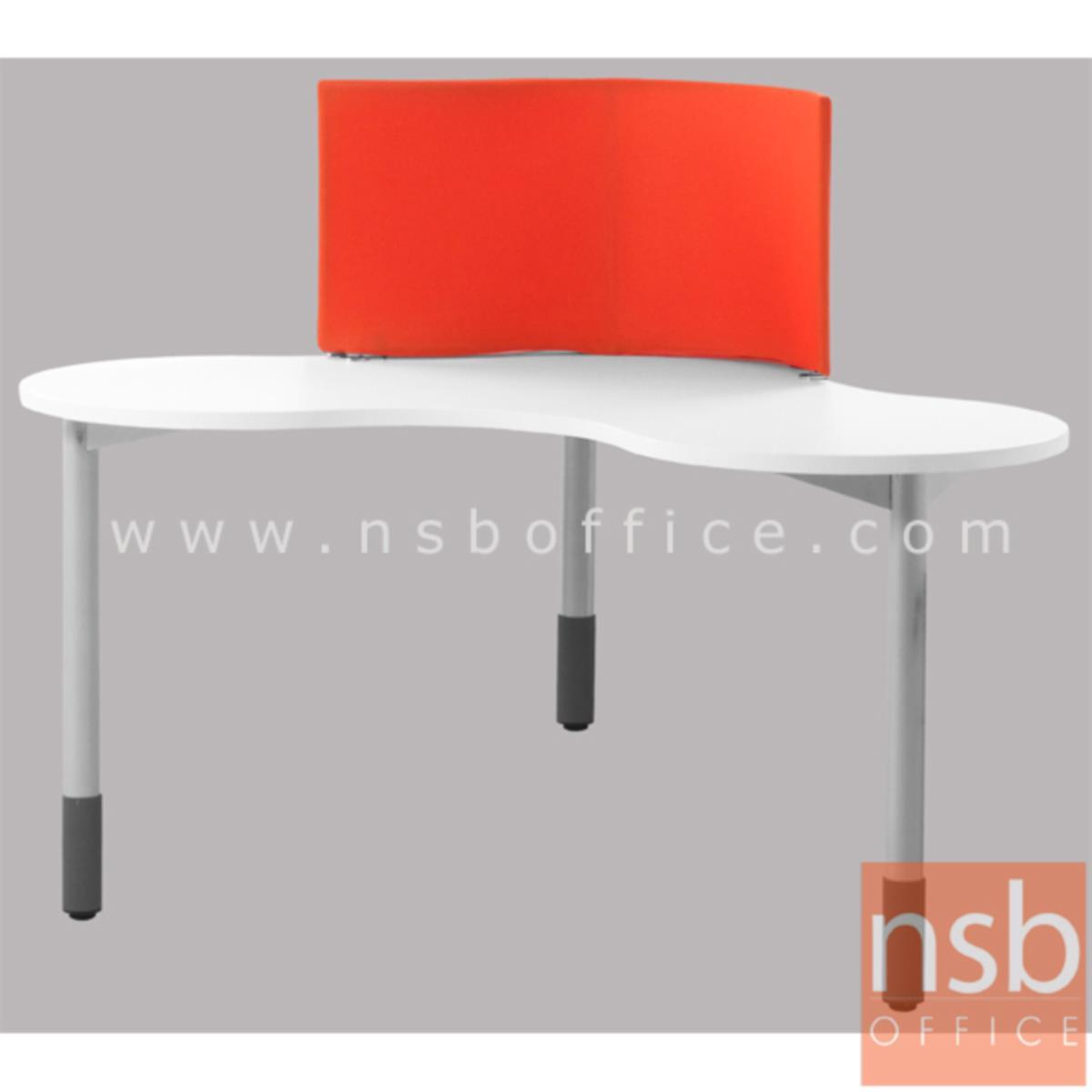 โต๊ะทำงานทรงสามเหลี่ยม ขนาด 150W*115H cm. รุ่น DO-I250   ขาเหล็กกลมพ่นสี