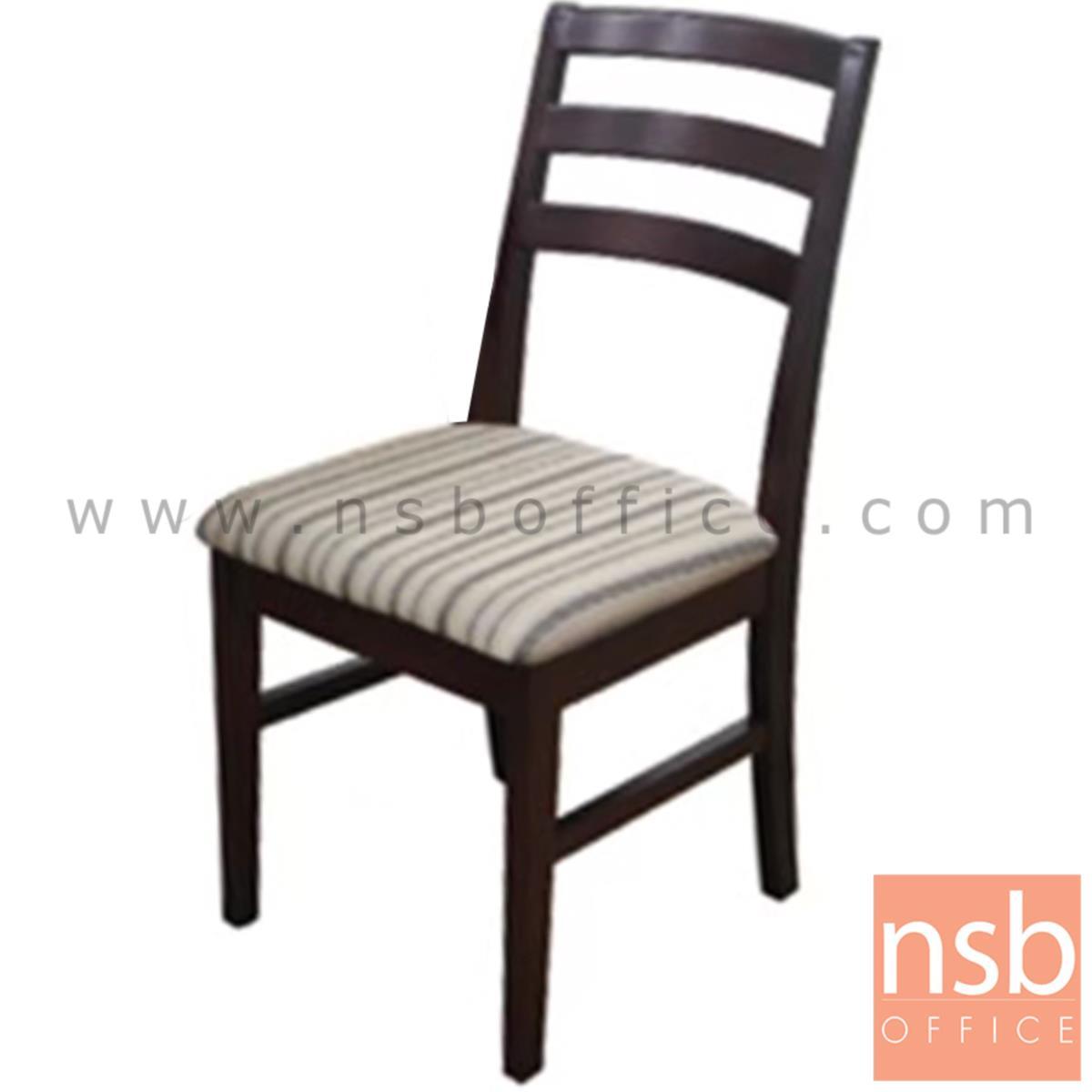 B22A158:เก้าอี้ไม้ที่นั่งหนังเทียม รุ่น VROY   ขาไม้ สีโอ๊ค